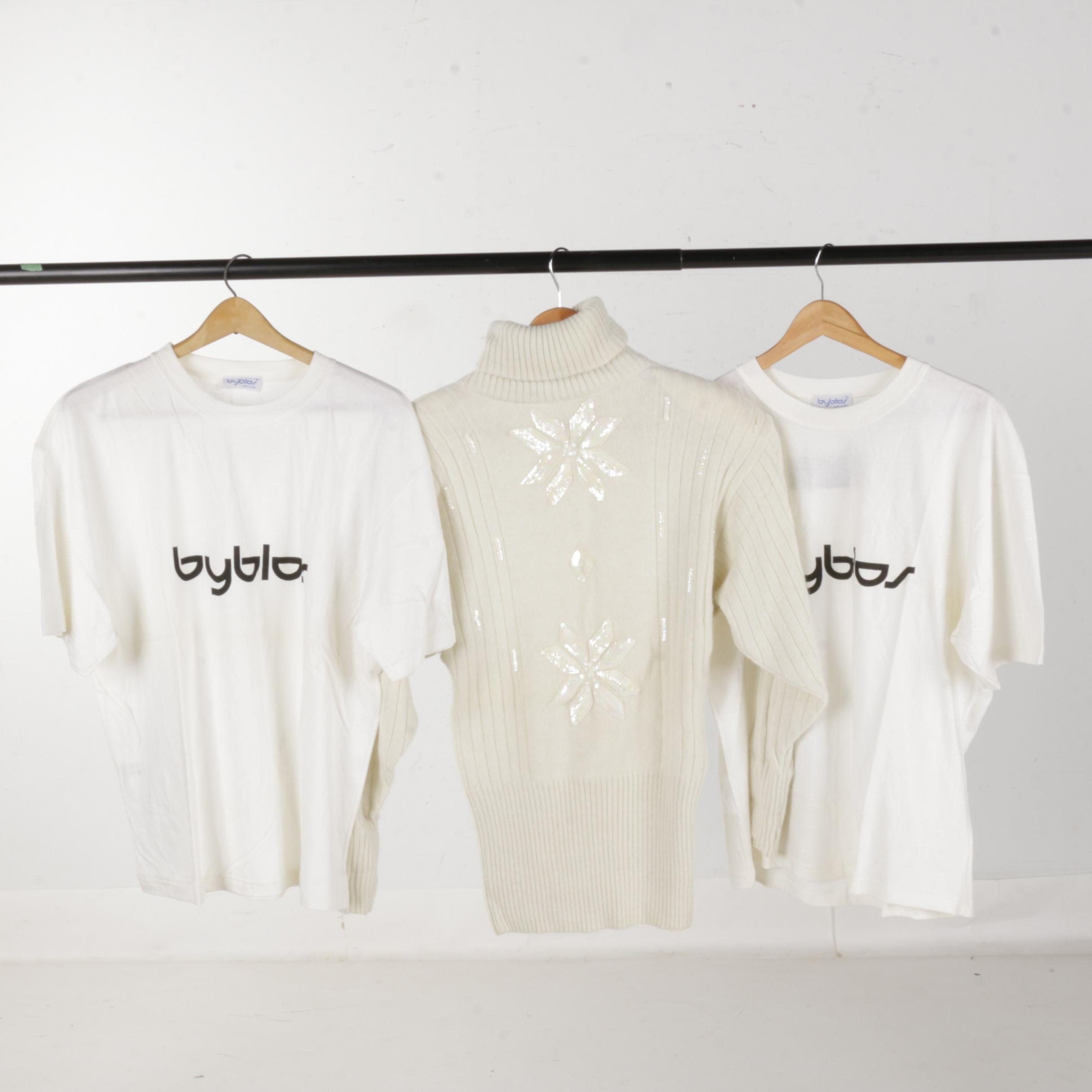Women's Byblos Turtleneck Sweater and Shirts