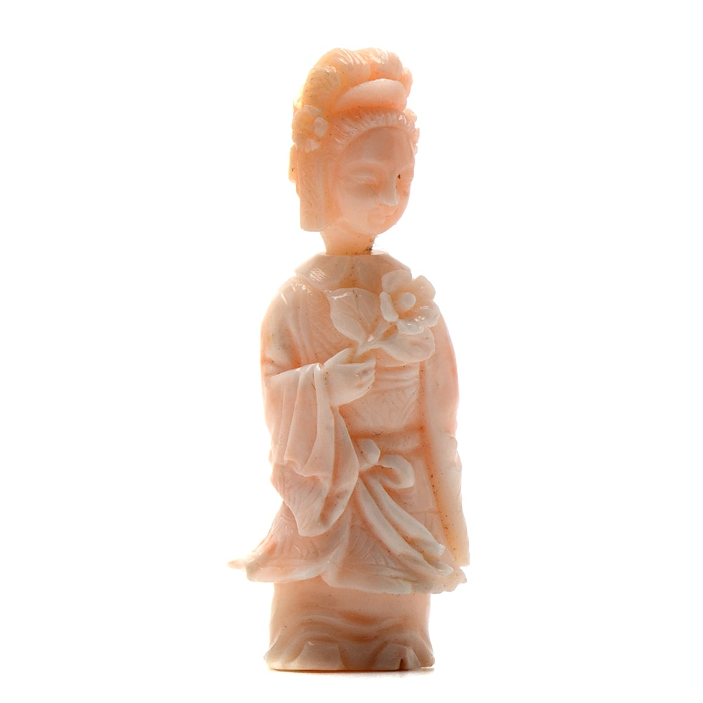 Republic of China Angel Skin Coral Snuff Bottle
