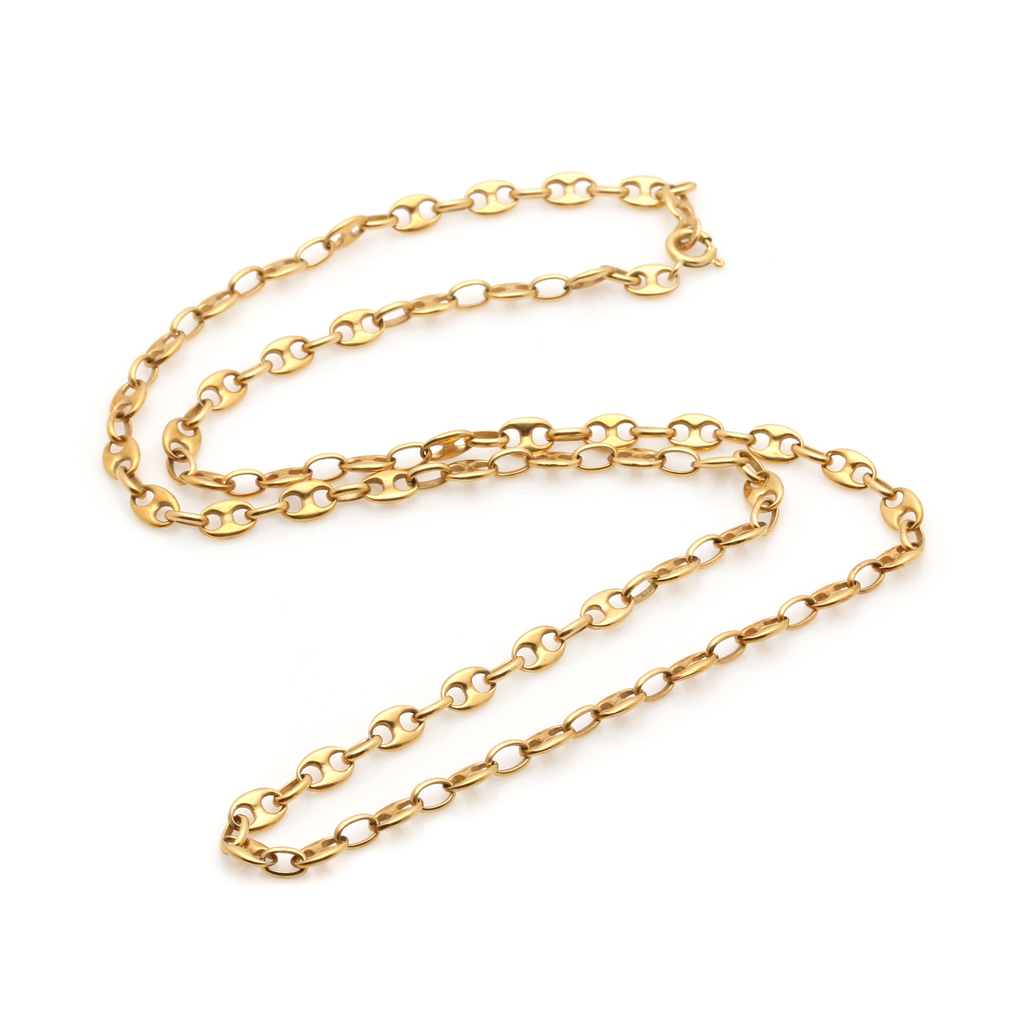 18K Yellow Gold Mariner Link Necklace