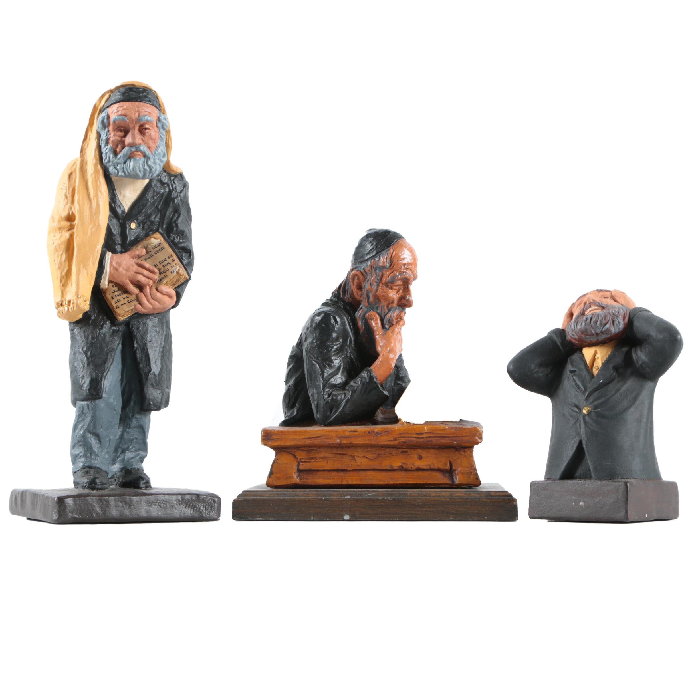 Resin and Ceramic Figurines of Rabbi