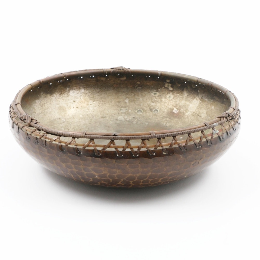 East Asian Weave Metal Bowl