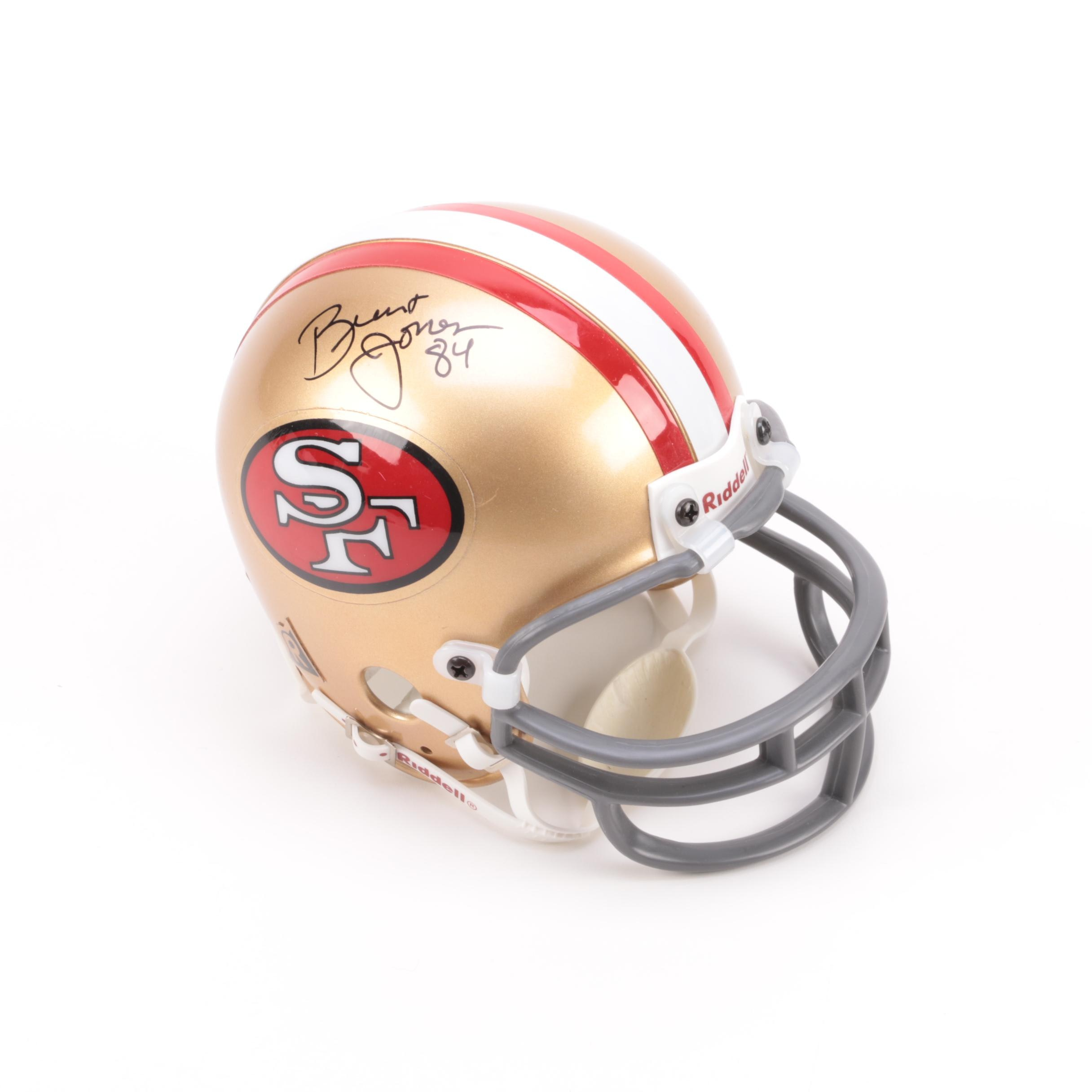 Brent Jones Autographed 49ers Mini Helmet