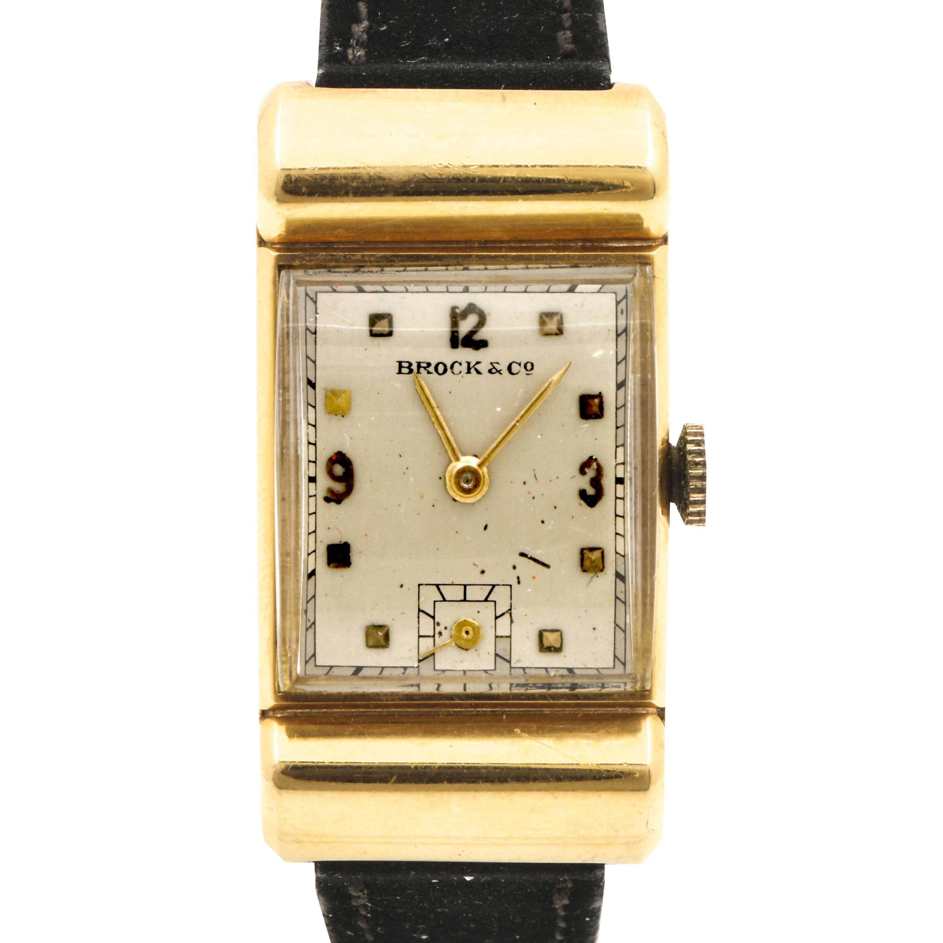 Brock & Co. 18K Yellow Gold Wristwatch