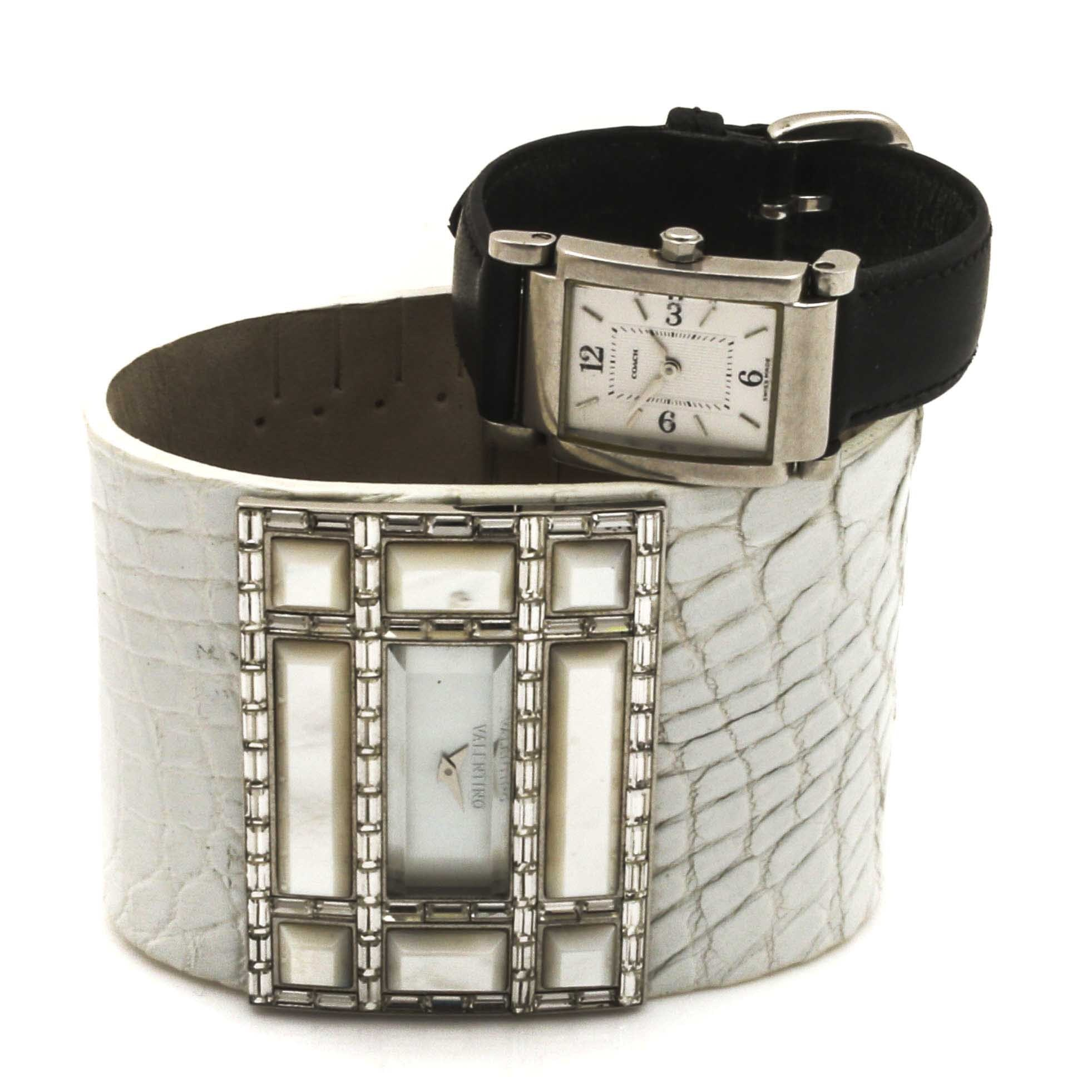 Coach and Valentino Analog Wristwatches