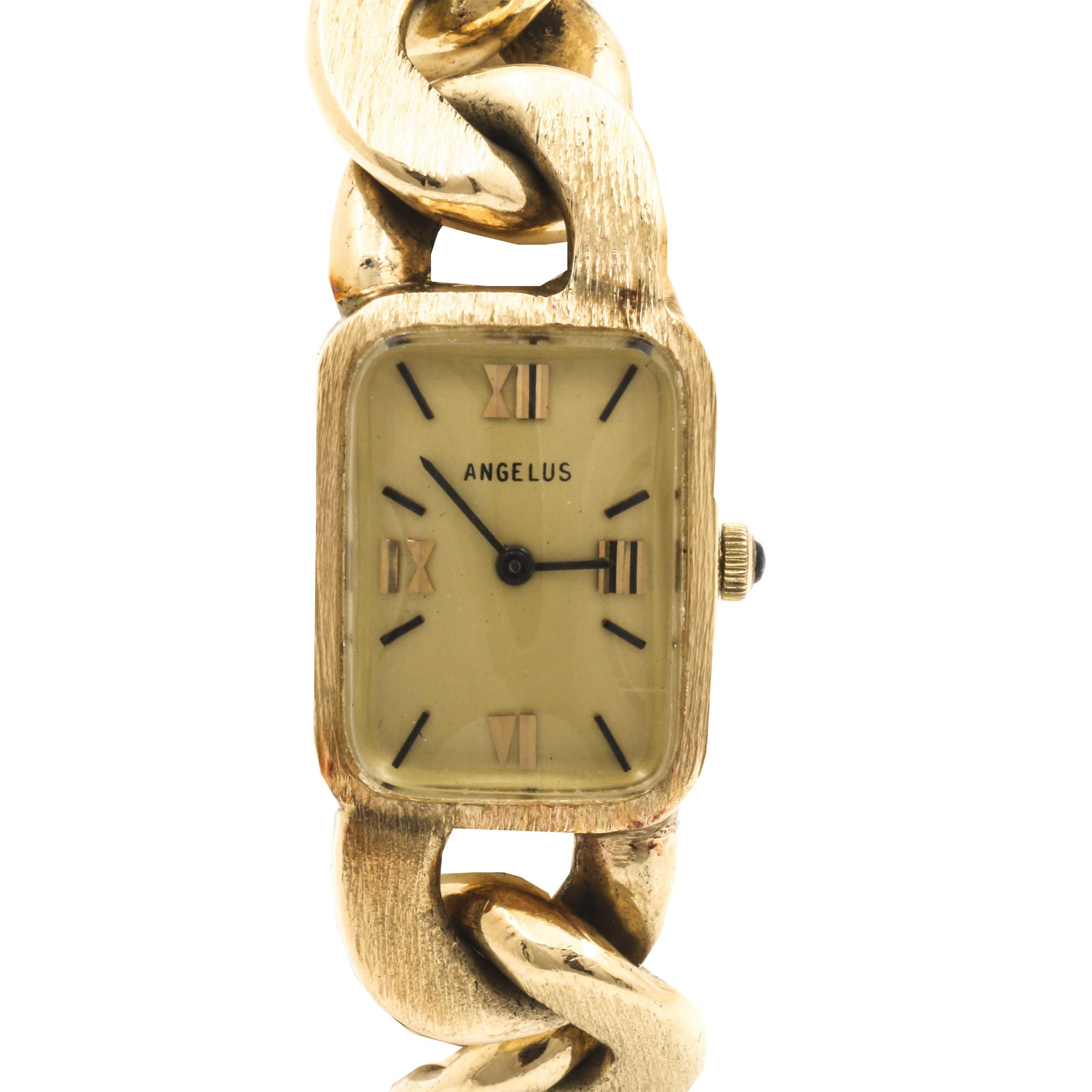Angelus 14K Yellow Gold Wristwatch