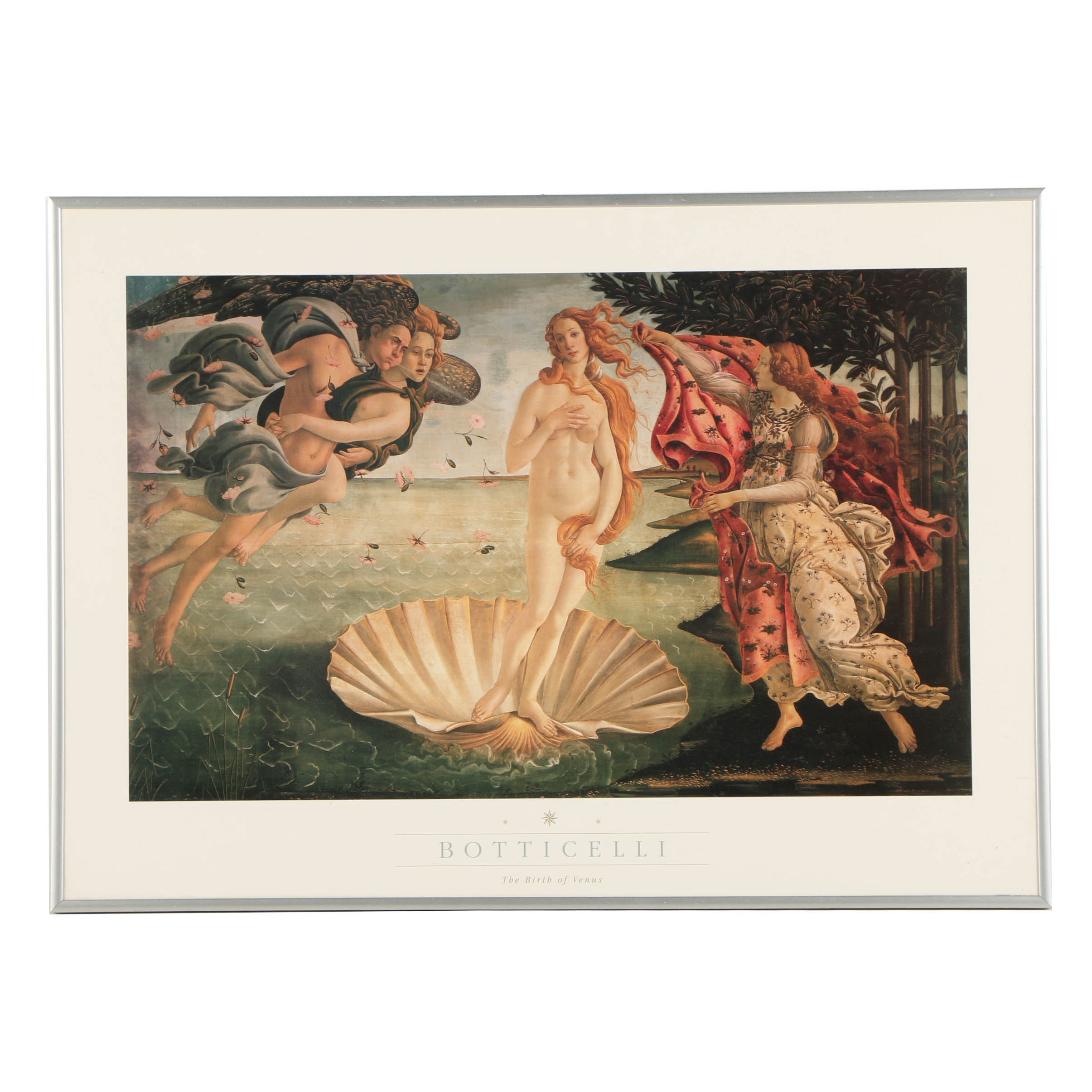 """Offset Lithograph Poster After Botticelli's """"The Birth of Venus"""""""