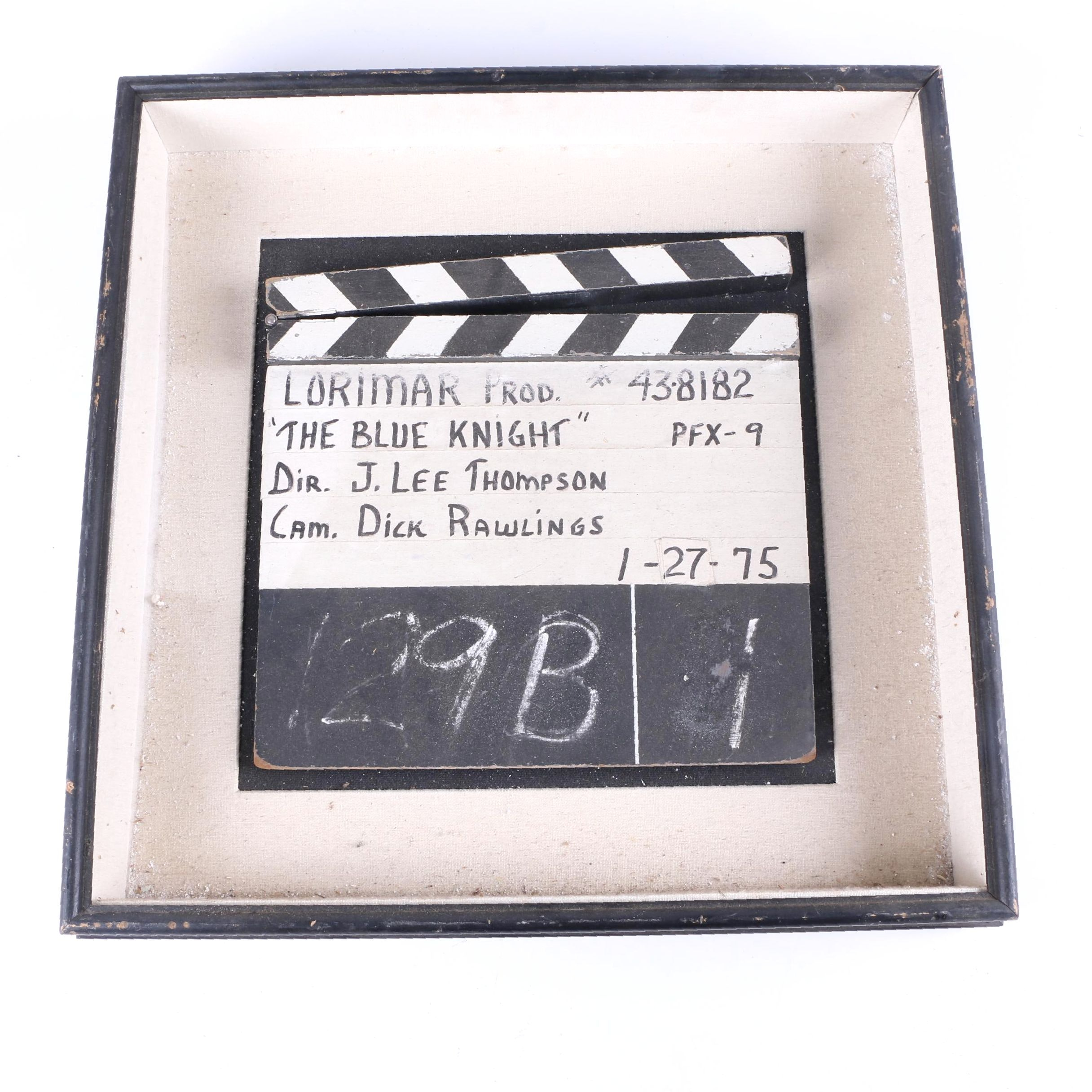 """Clapper Board for """"The Blue Knight"""" TV Series Directed by J. Lee Thompson"""