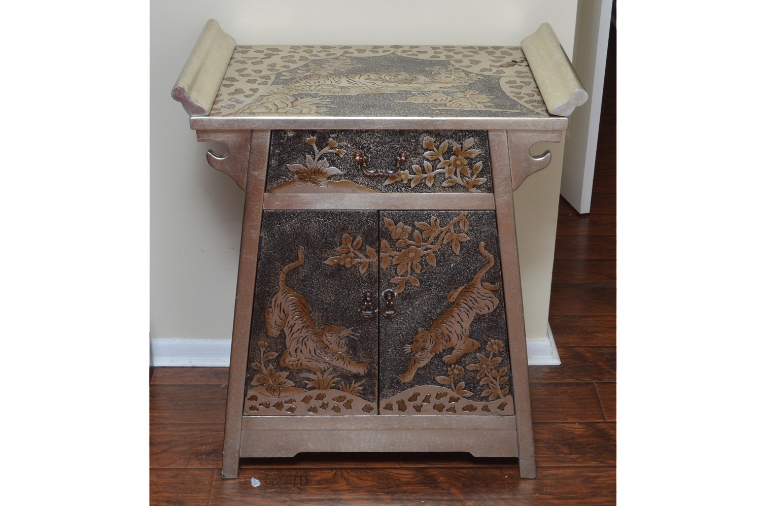 Asian Inspired Painted Cabinet