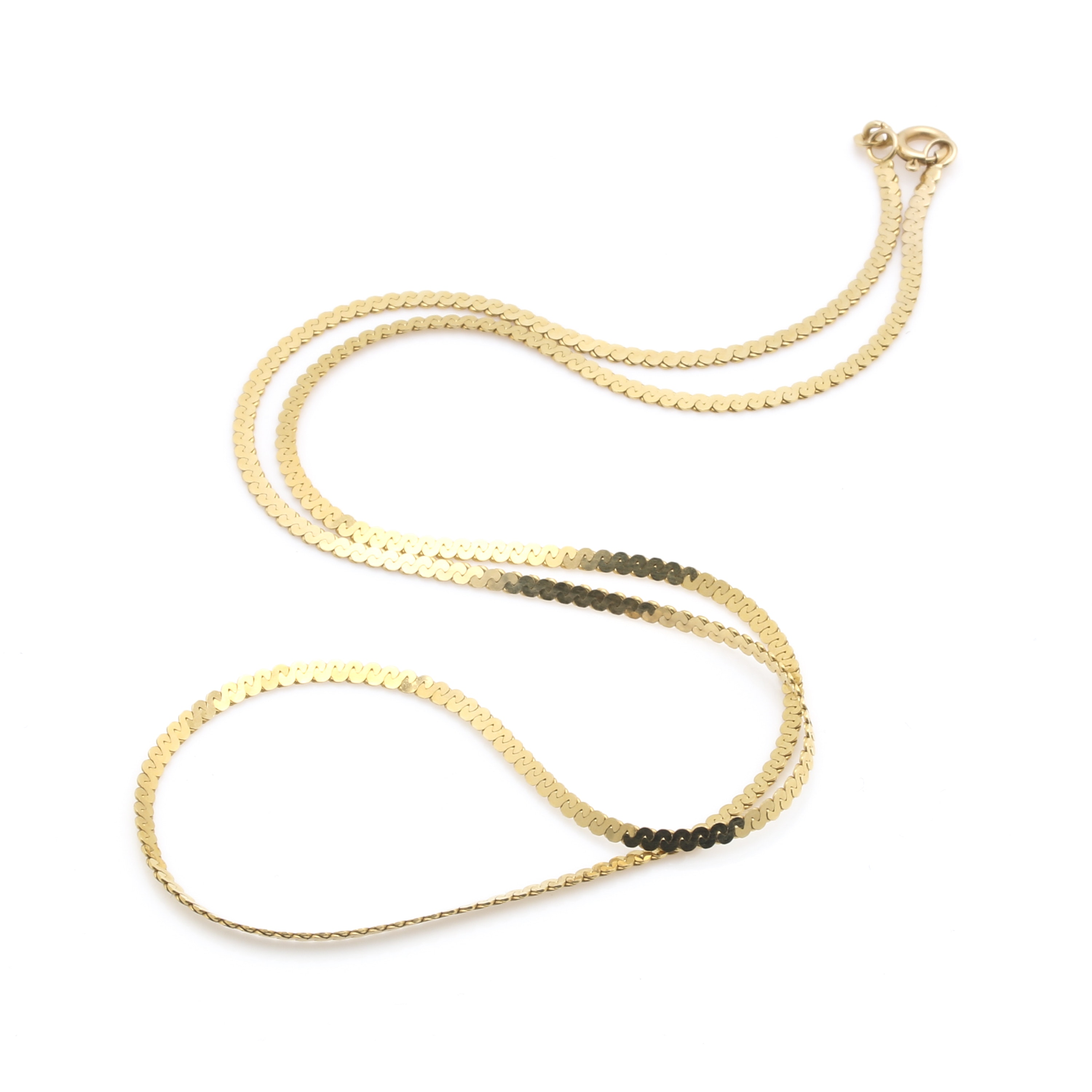 14K Yellow Gold S-Link Chain Necklace