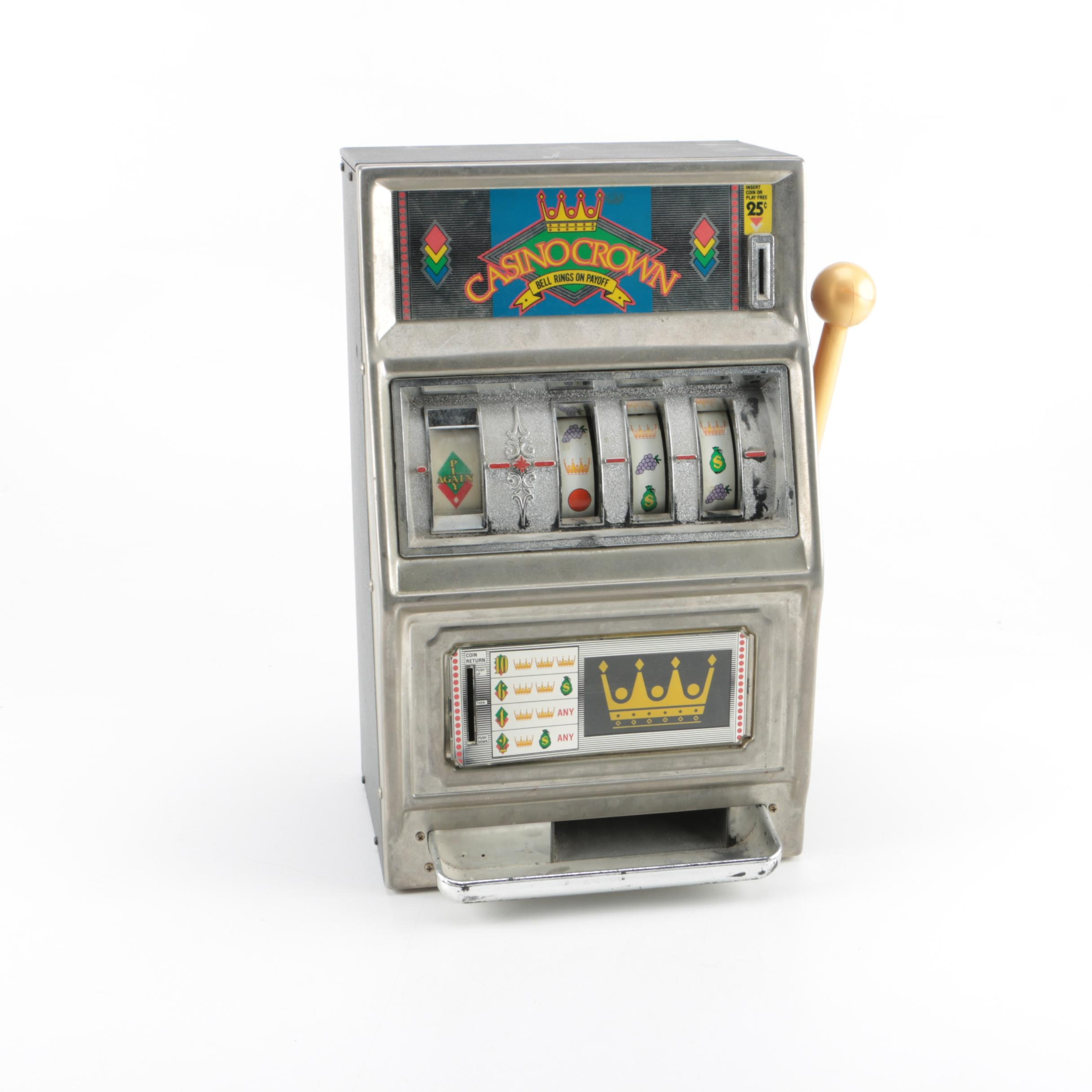 Waco Casino Crown Slot Machine Coin Bank