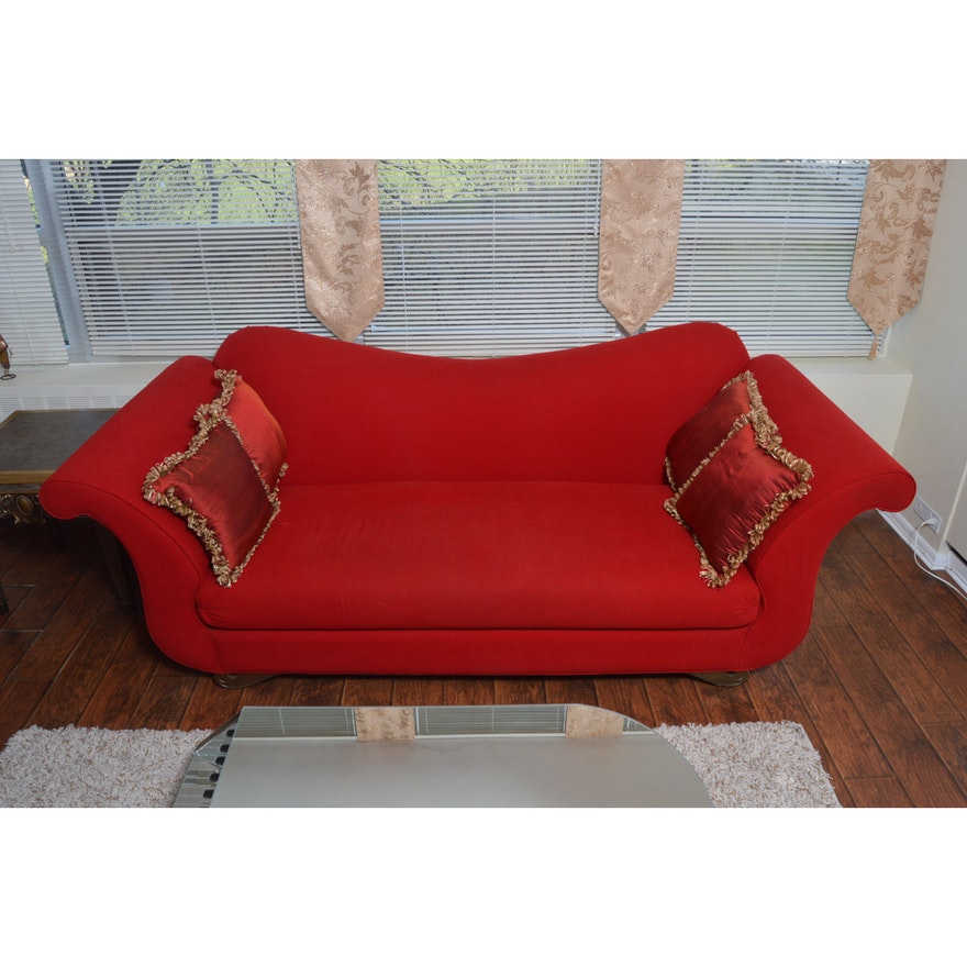 Contemporary Red Sofa by Carter Furniture