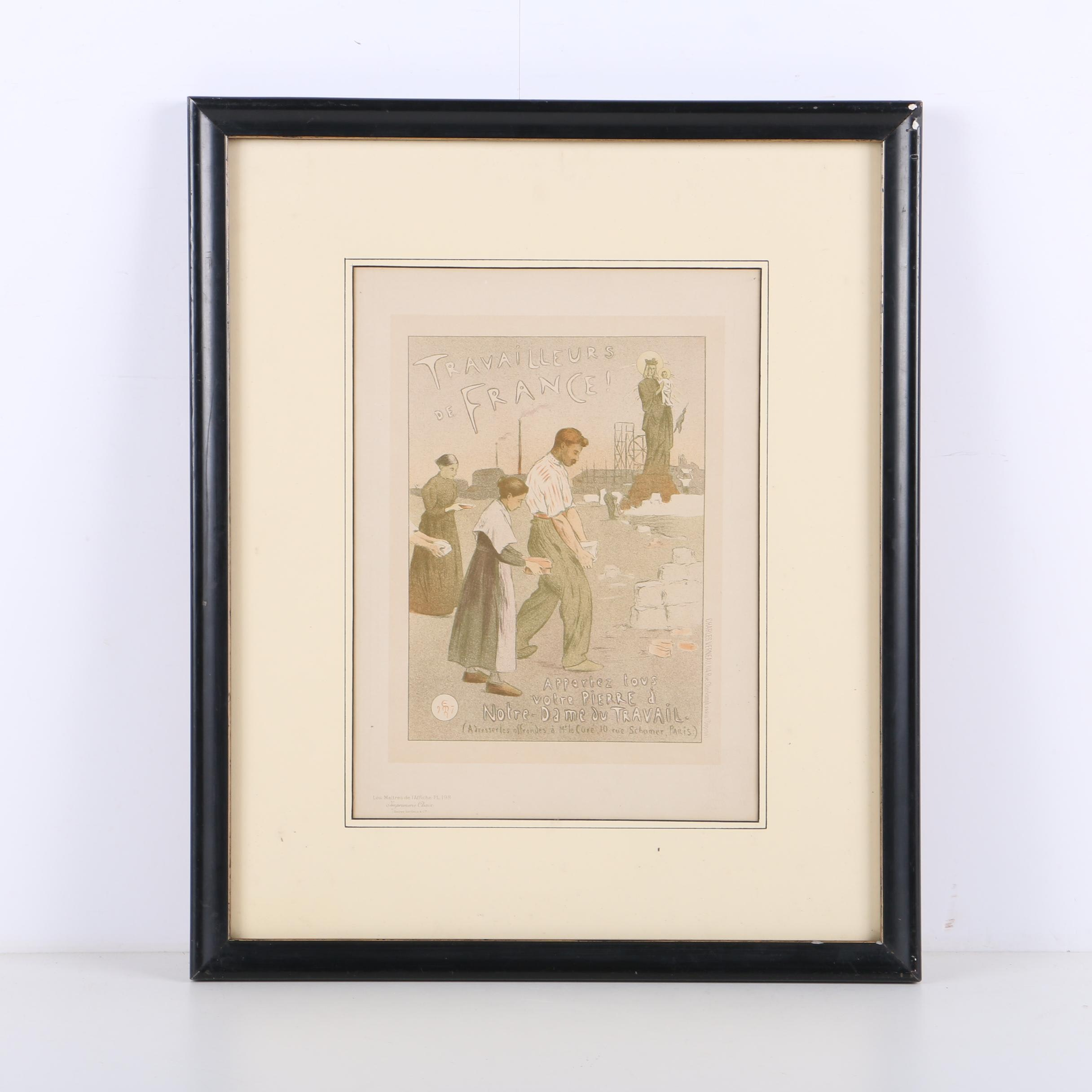 "Lithograph After Charles Verneau Poster from ""Les Maîtres de l'Affiche"""