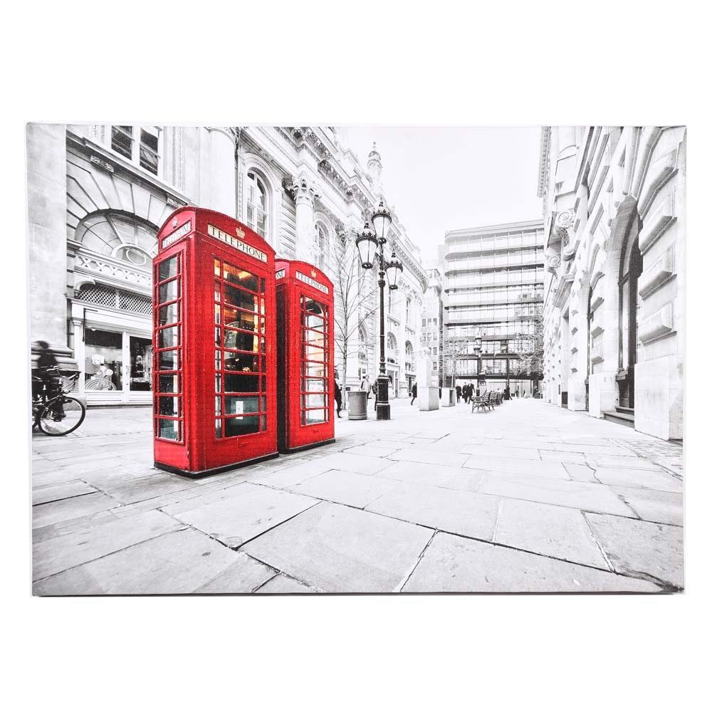 Embellished Giclée Print on Canvas of London