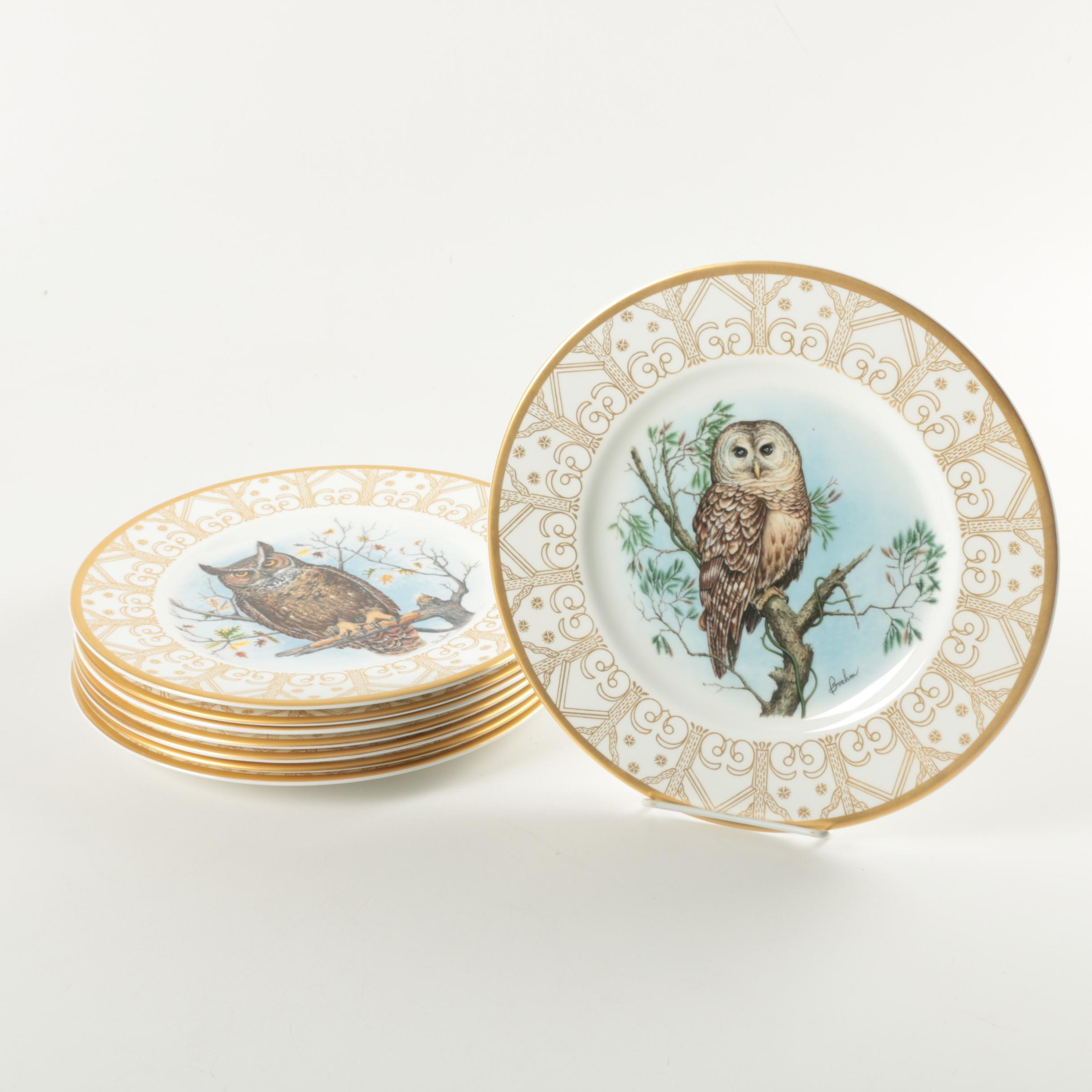 Edward Marshall Boehm Limited Edition Owl Plate Collection