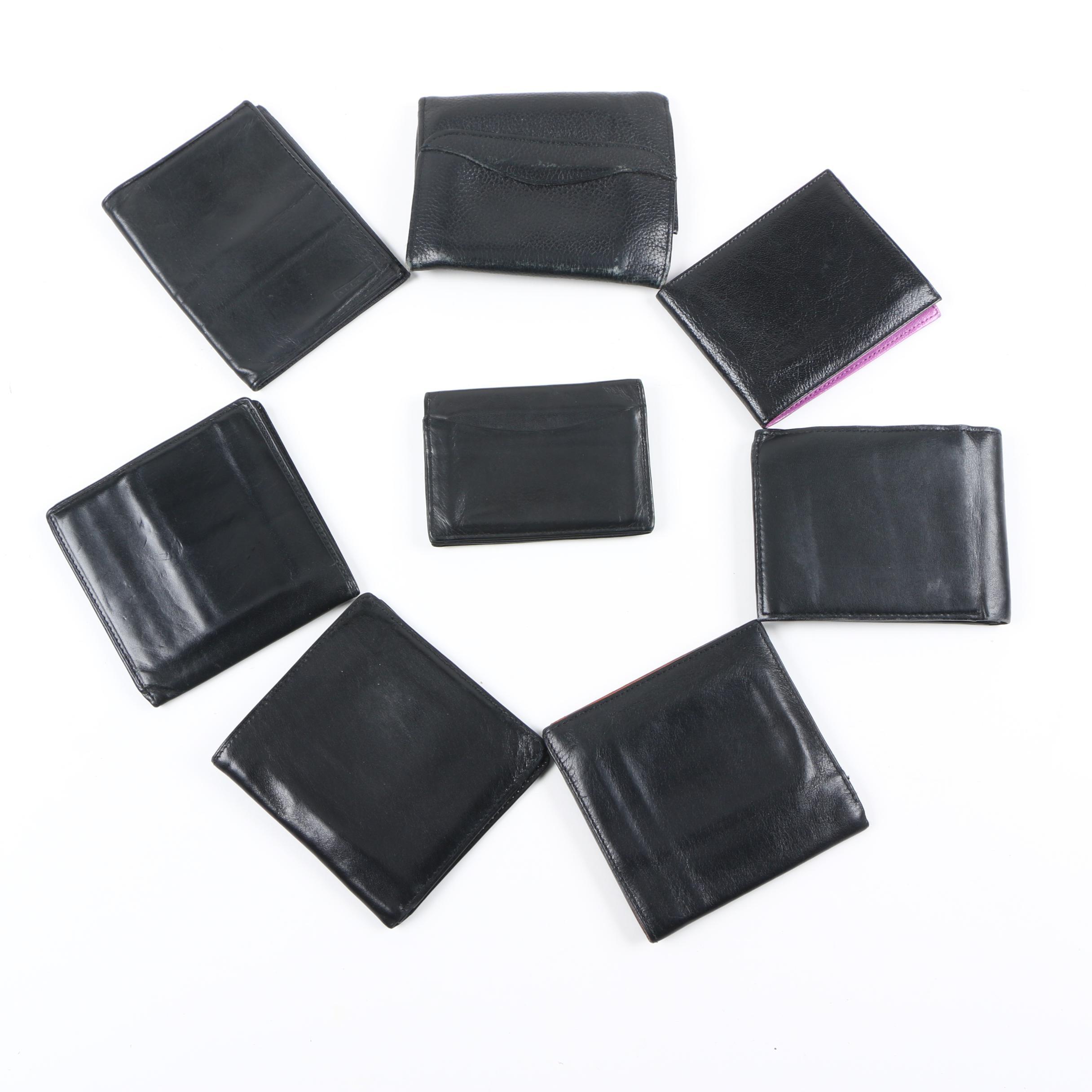 Men's Black Leather Wallets Including Bond Street and Tusk
