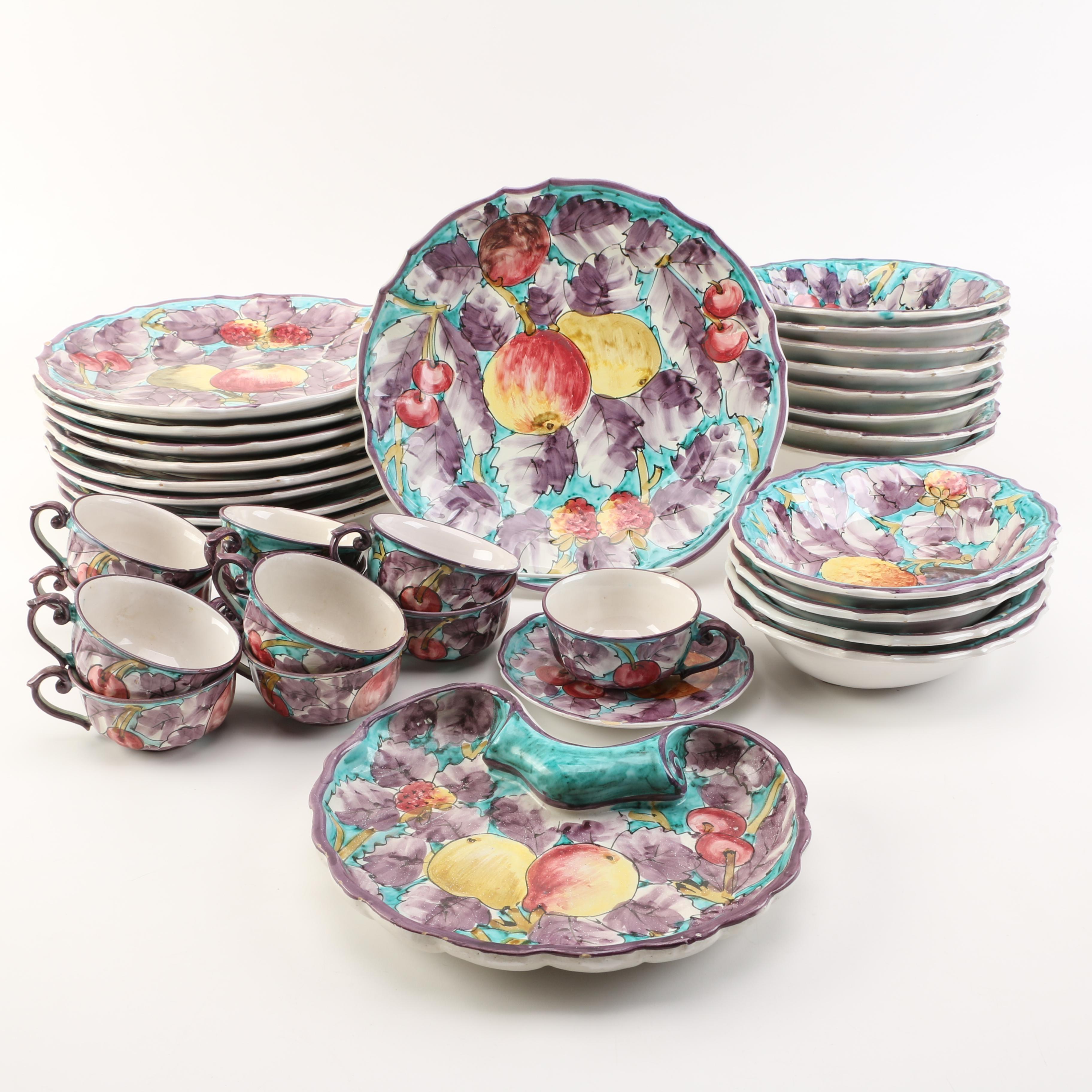 Italian Ceramic Tableware Set ...  sc 1 st  EBTH.com & Italian Ceramic Tableware Set : EBTH