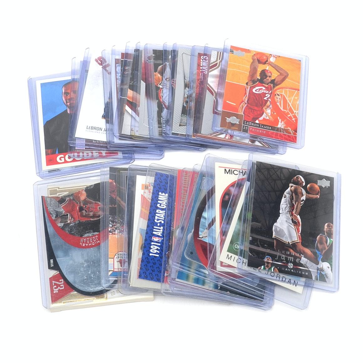 Jordan and James Basketball/Baseball Cards