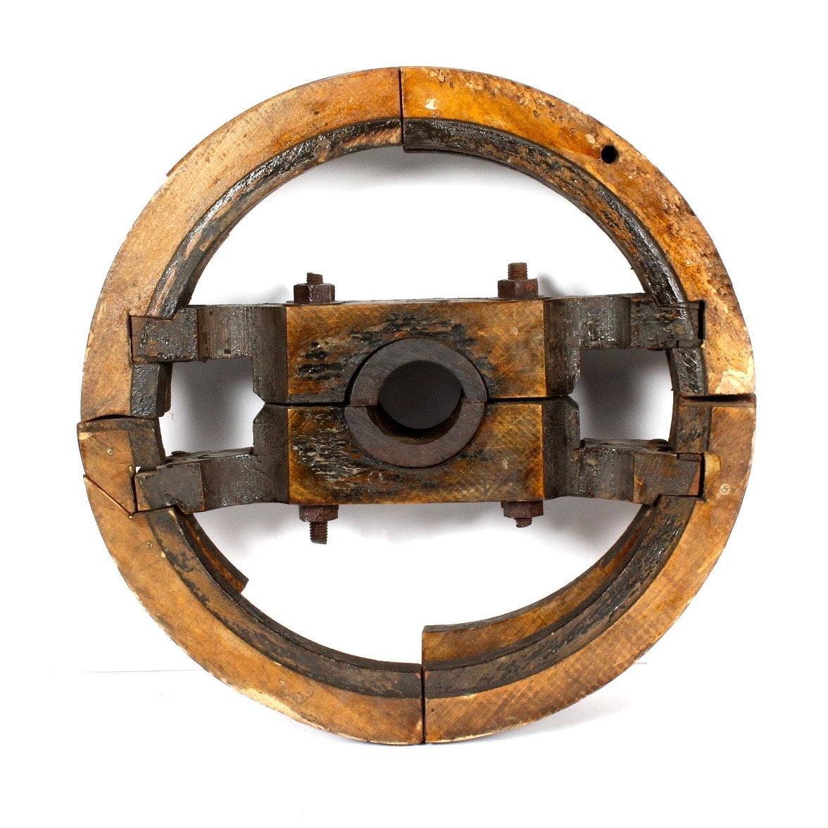 Antique Industrial Factory Wheel