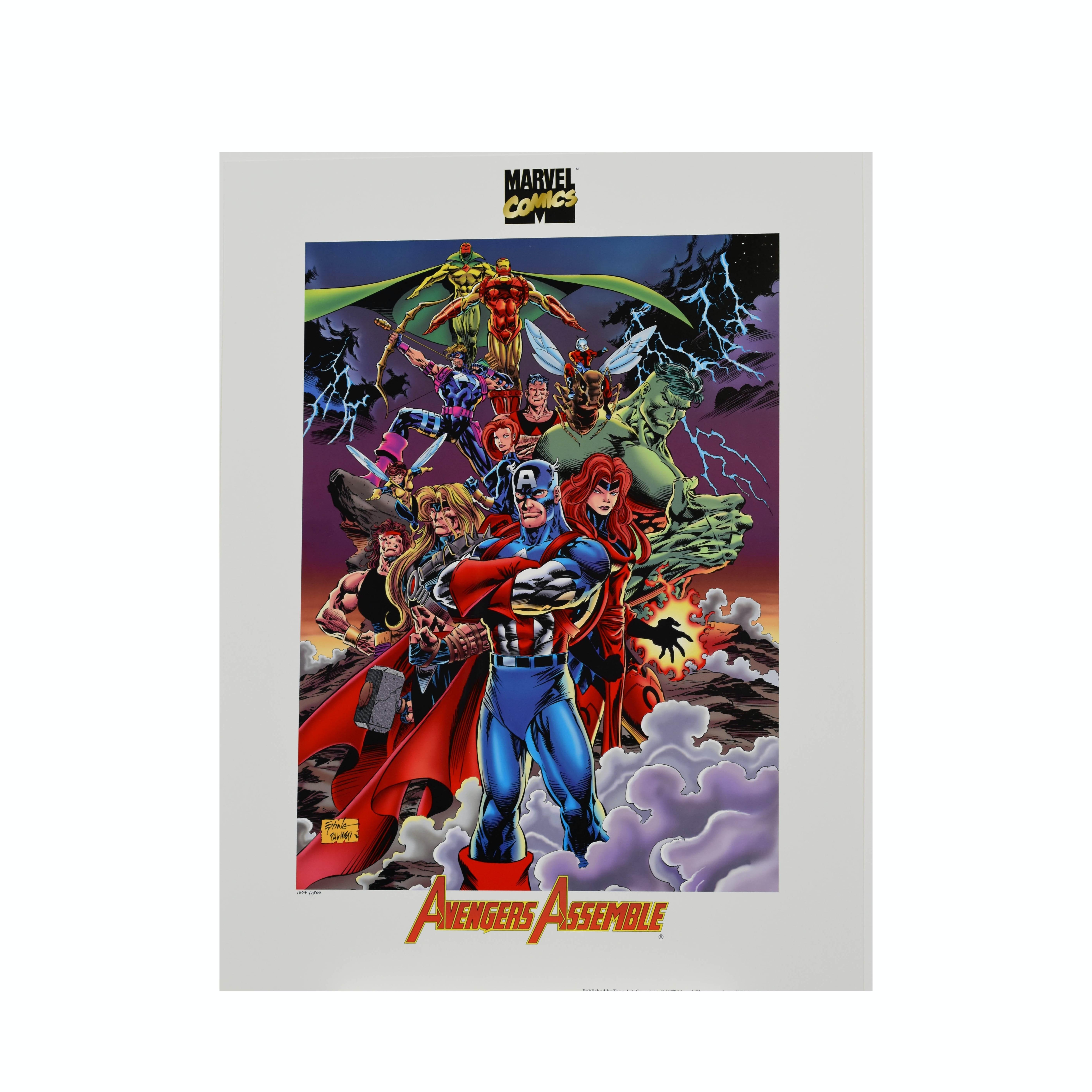 Avengers Assemble - L.E. Marvel Lithograph