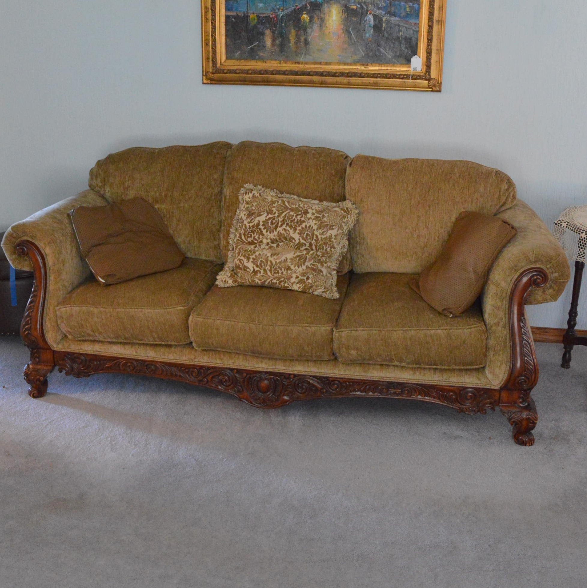 Georgian Style Upholstered Sofa by Broyhill