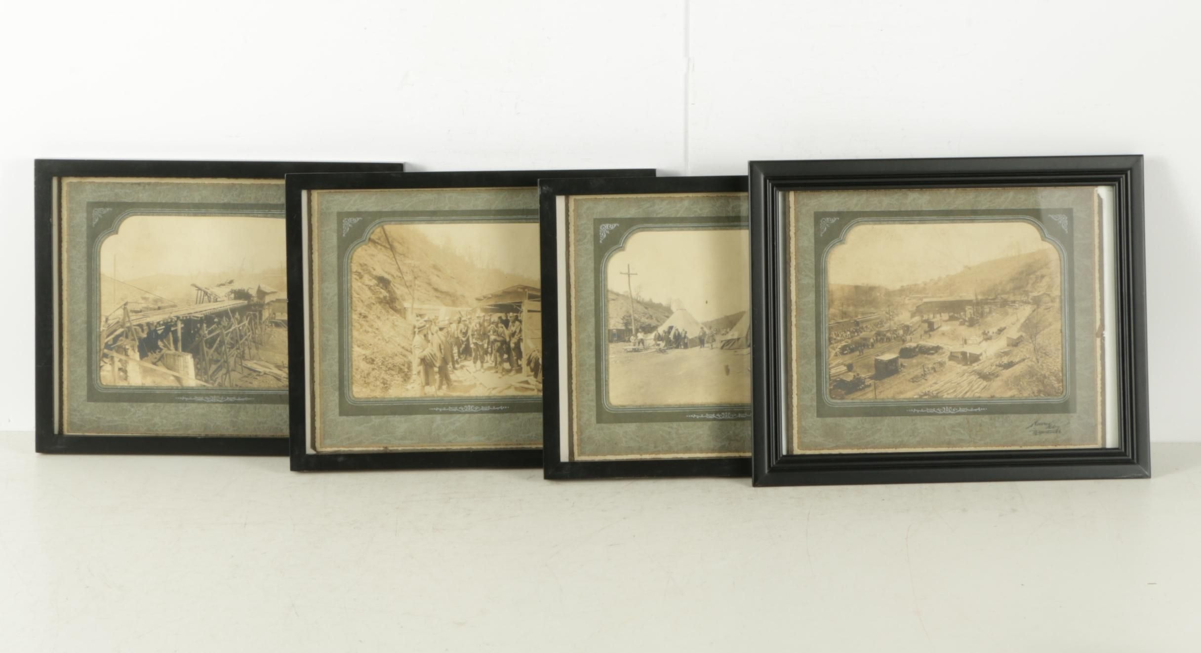 Gelatin-Silver Photographs of Miners