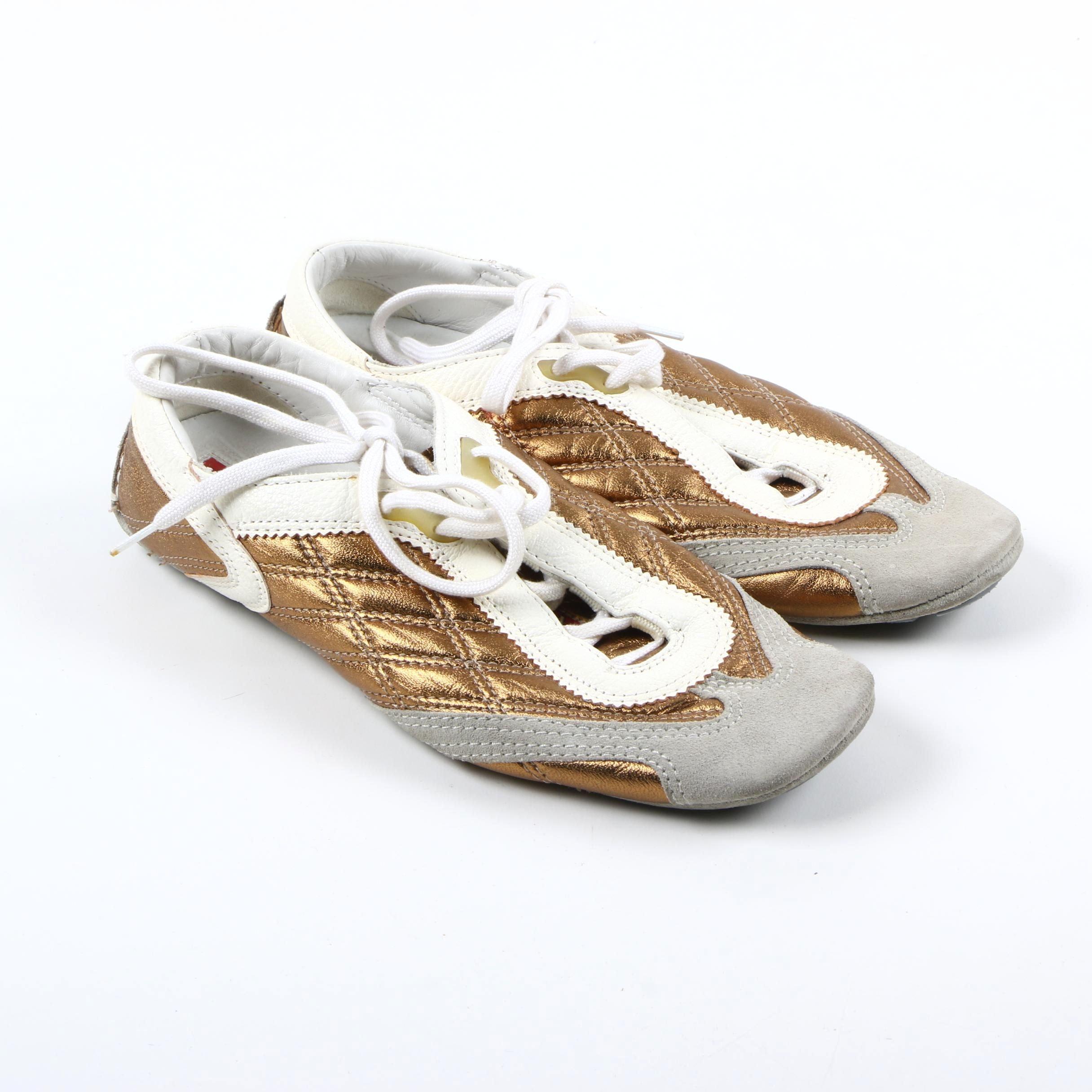 Women's Prada Leather Walking Sneakers