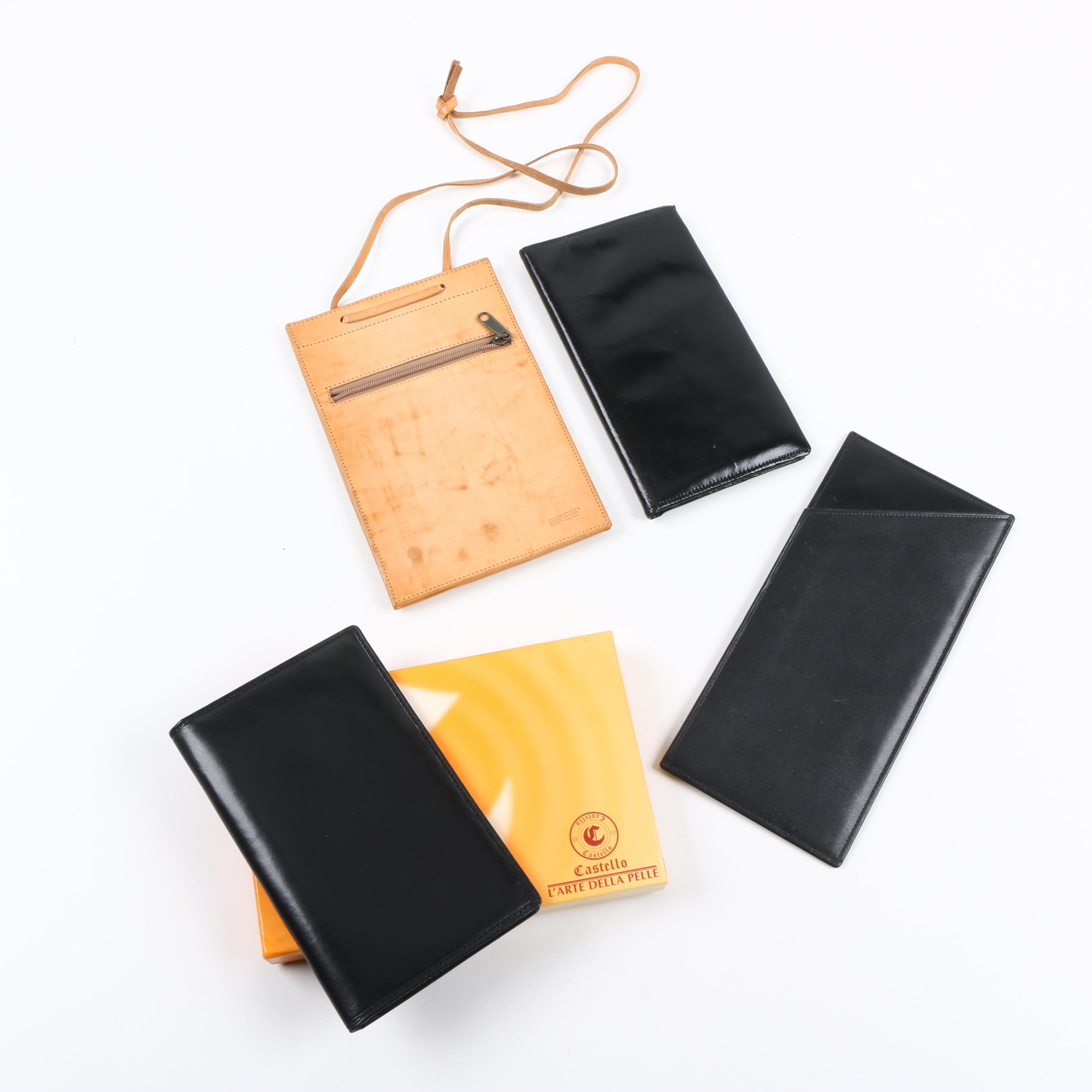 Traveler Wallets and Credit Card Wallets Including Castello