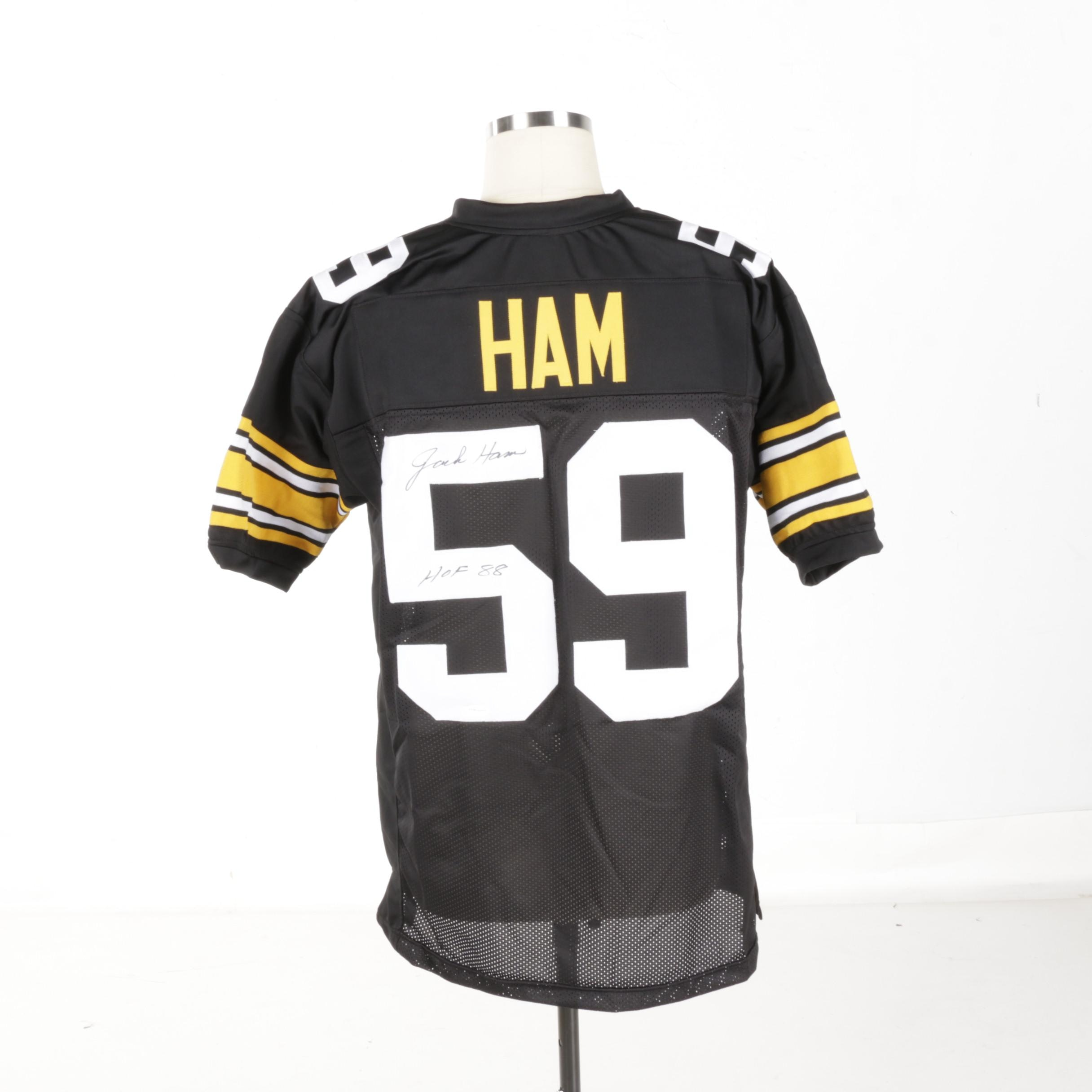 Autographed Jack Ham Steelers Jersey - TSE COA