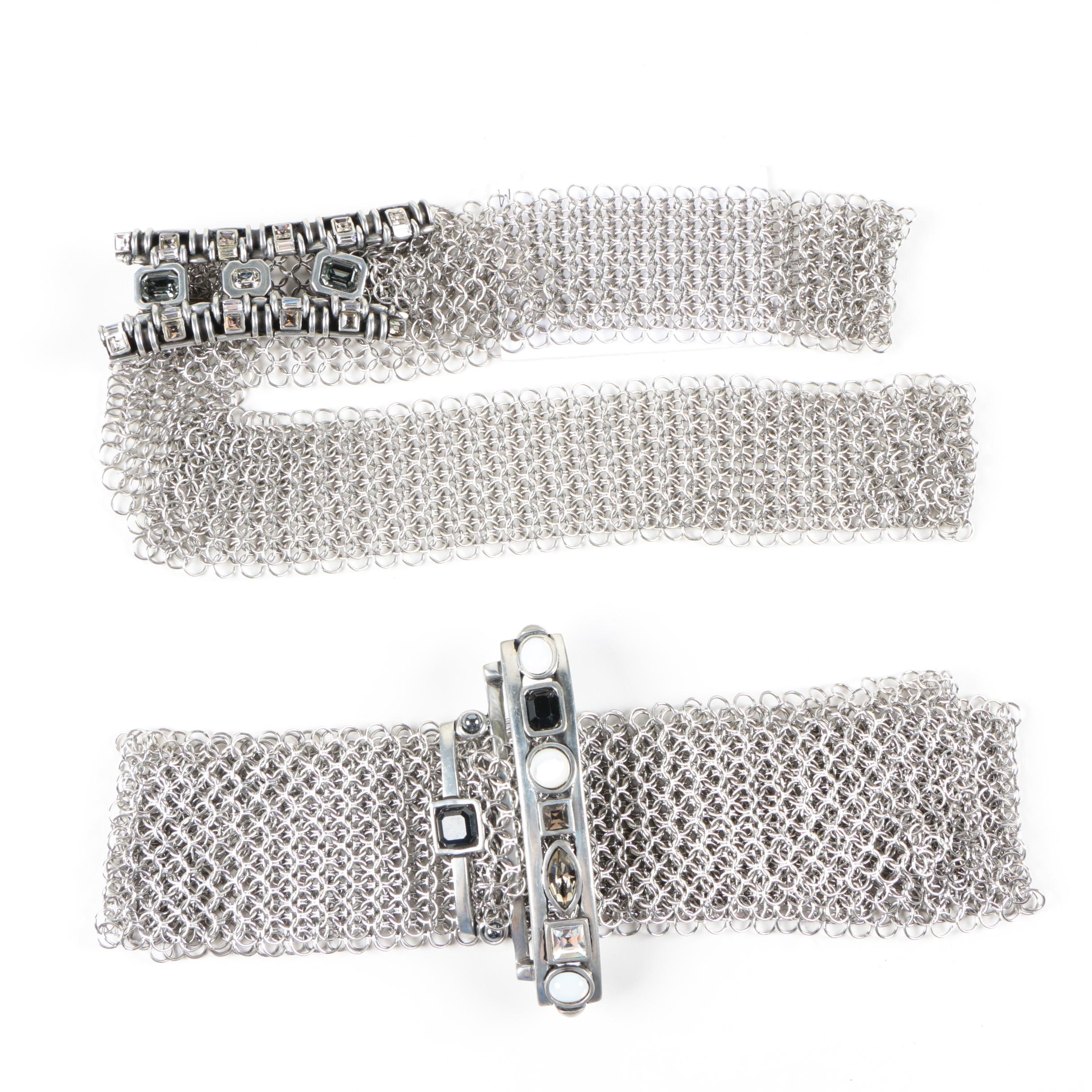 Fahrenheit Connie-Bates New York Chainmail and Crystal Belts
