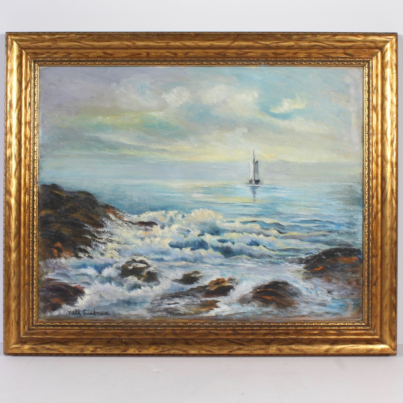 Nell Friedman Seascape Oil on Canvas Painting