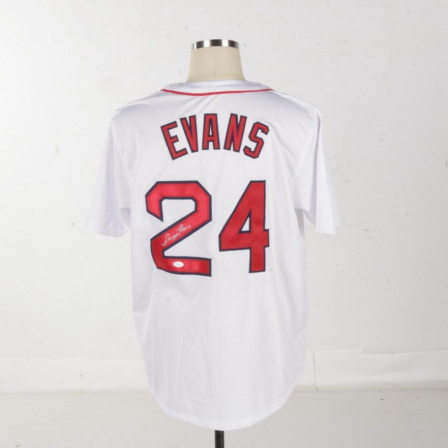 ee3cbfa4e Autographed Dwight Evans Red Sox Jersey - JSA COA : EBTH