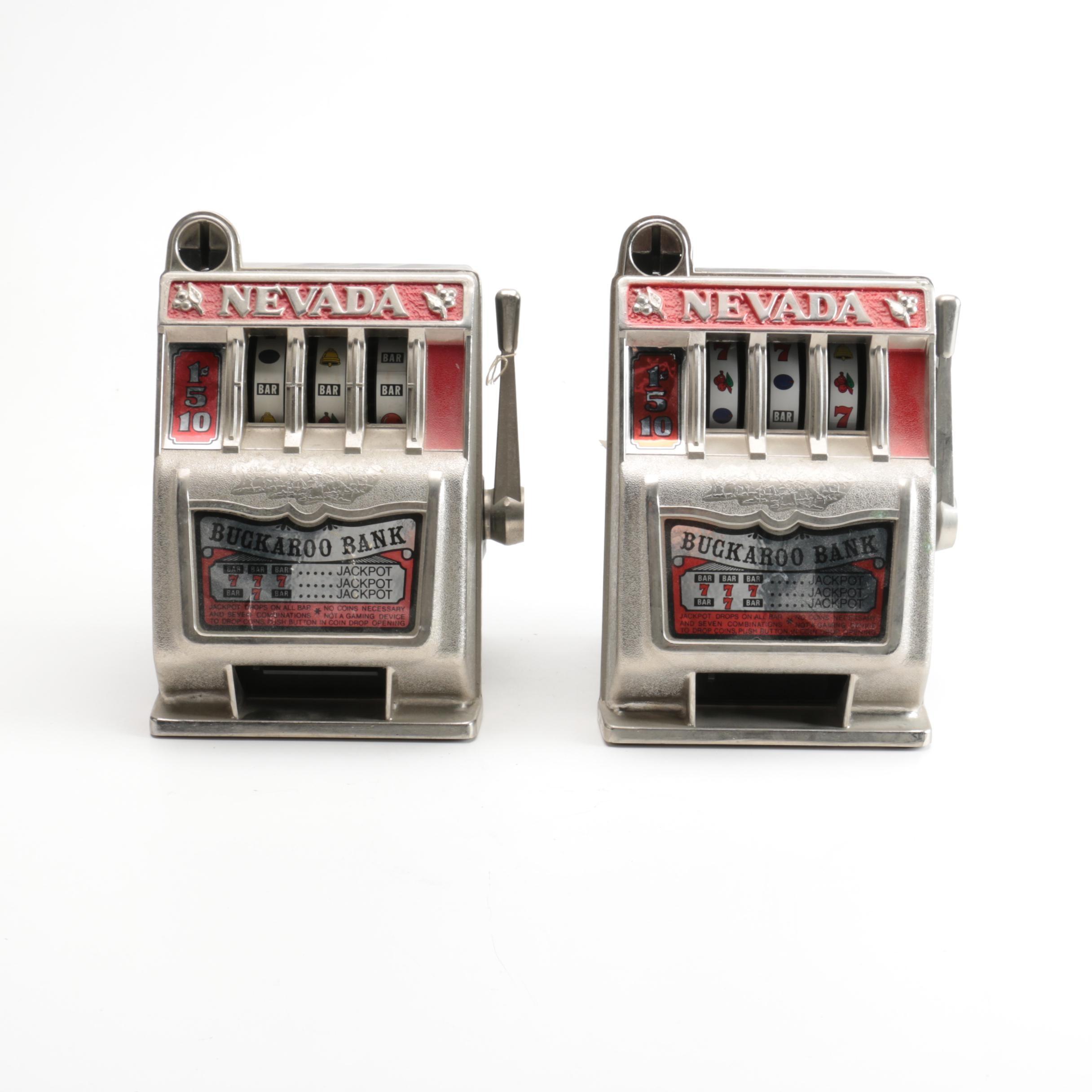 Two Mini Slot Machine Banks