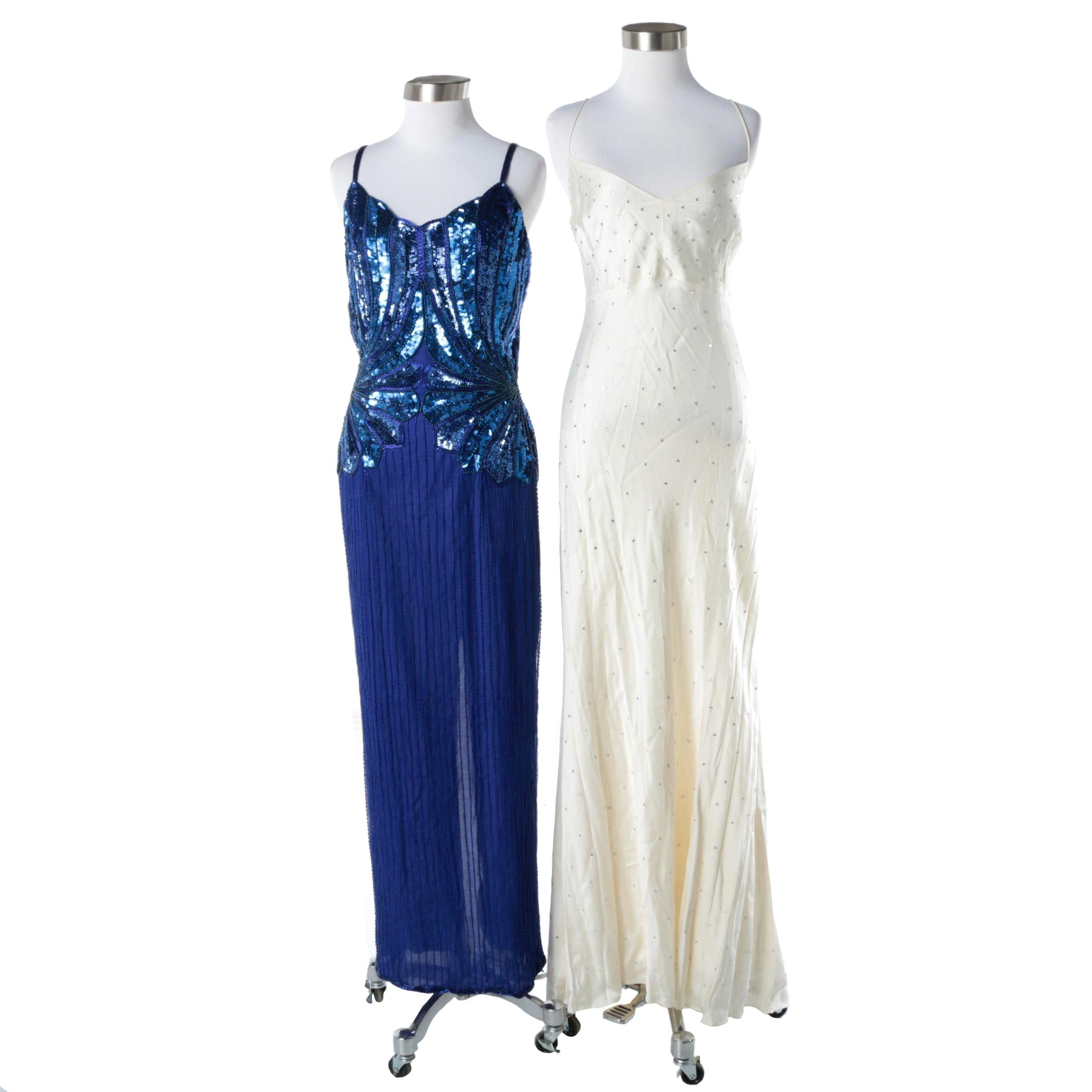Embellished Full-Length Formal Gowns Including DKNY