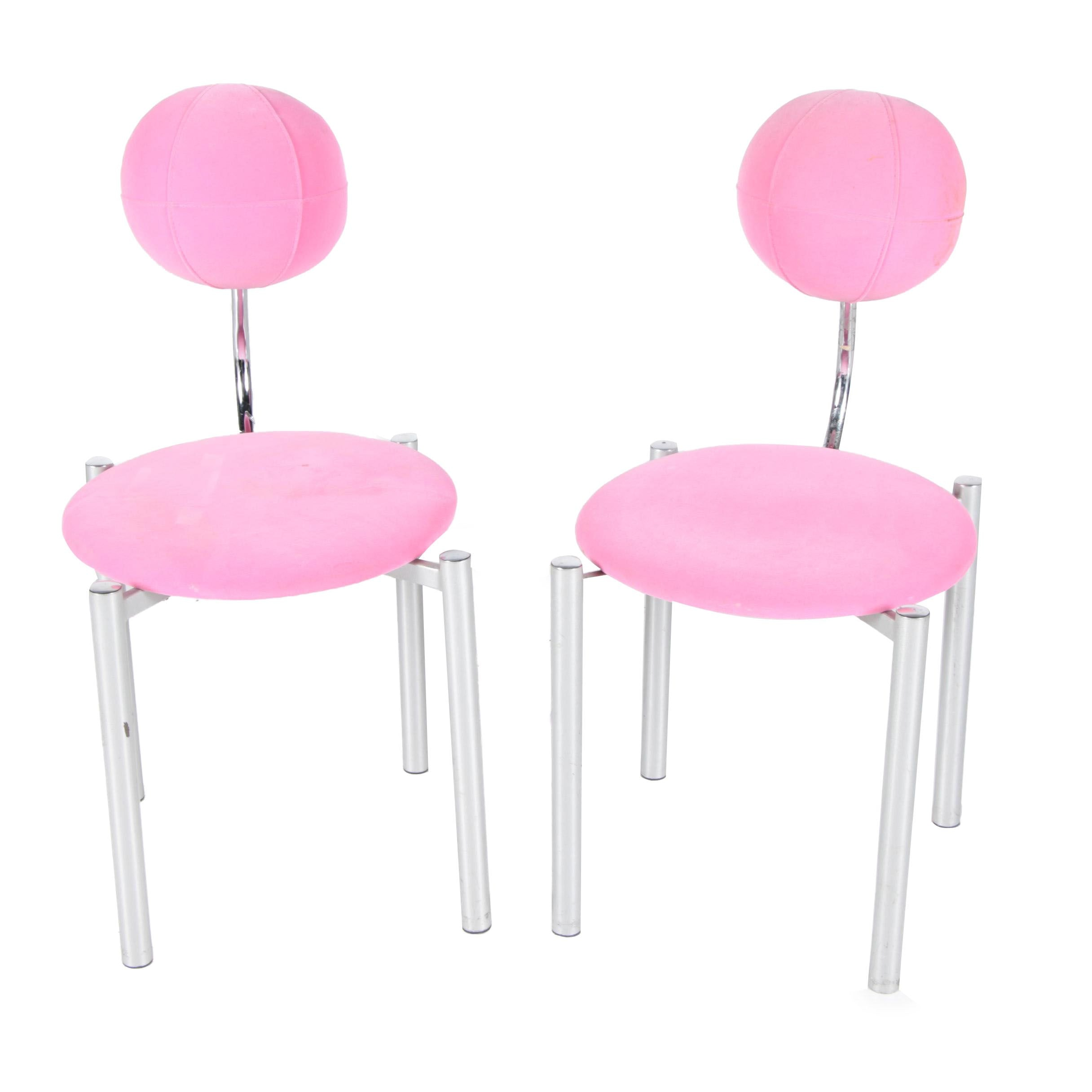 Pink Upholstered Vanity Chairs