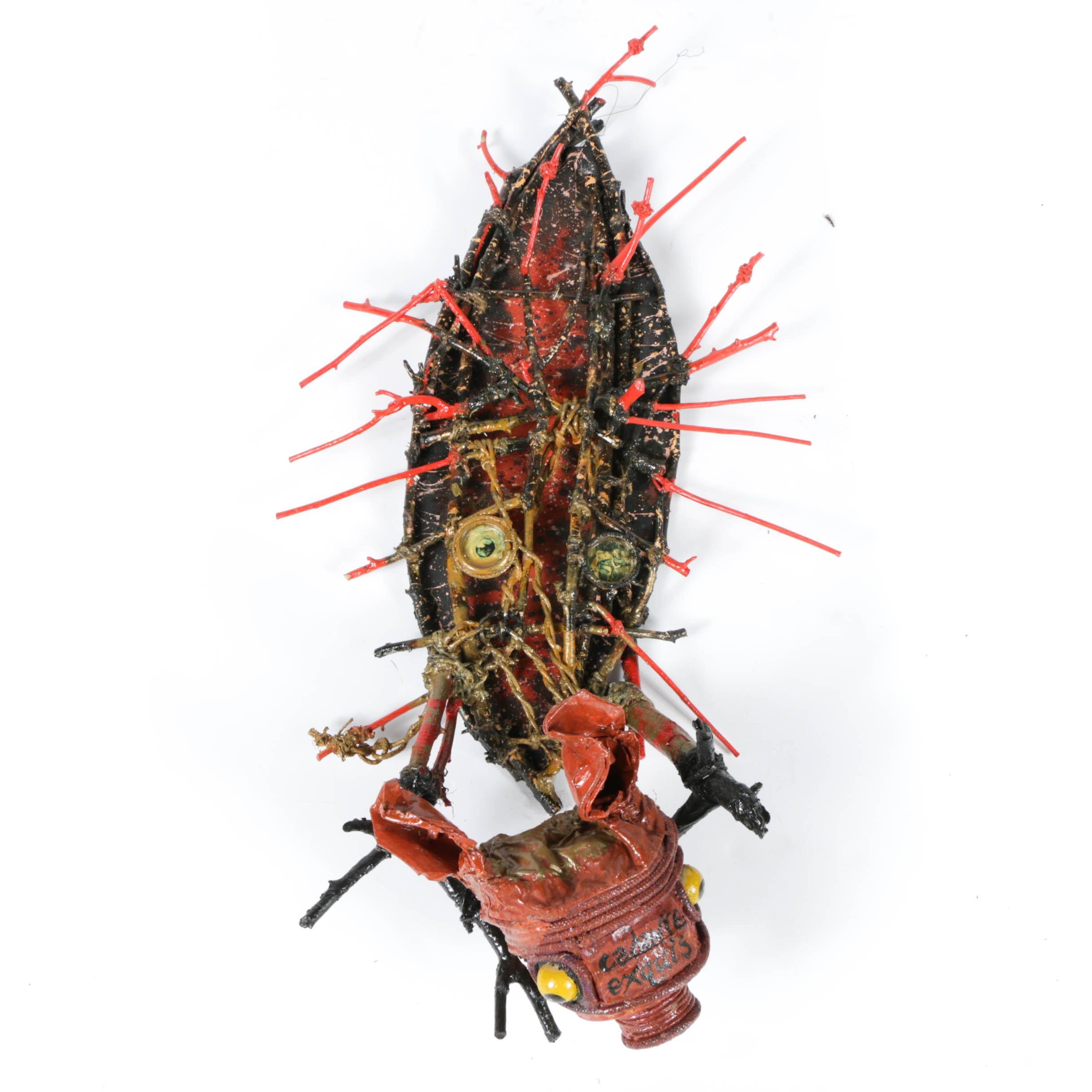 "Frank Kowing Mixed Media Sculpture ""Cadavre Exquis 5"""
