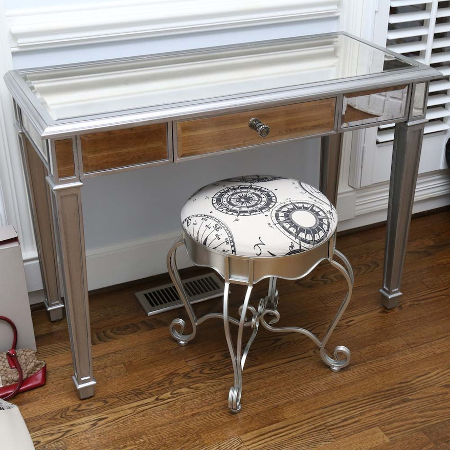Miraculous Mirrored Vanity Table And Stool From Pier 1 Imports Caraccident5 Cool Chair Designs And Ideas Caraccident5Info
