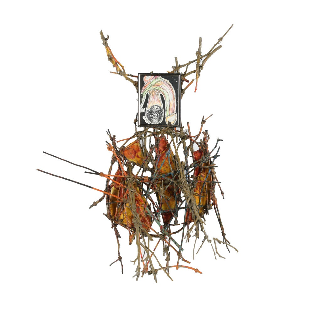 """Frank Kowing Mixed Media Sculpture """"Scratch & Sniff"""""""