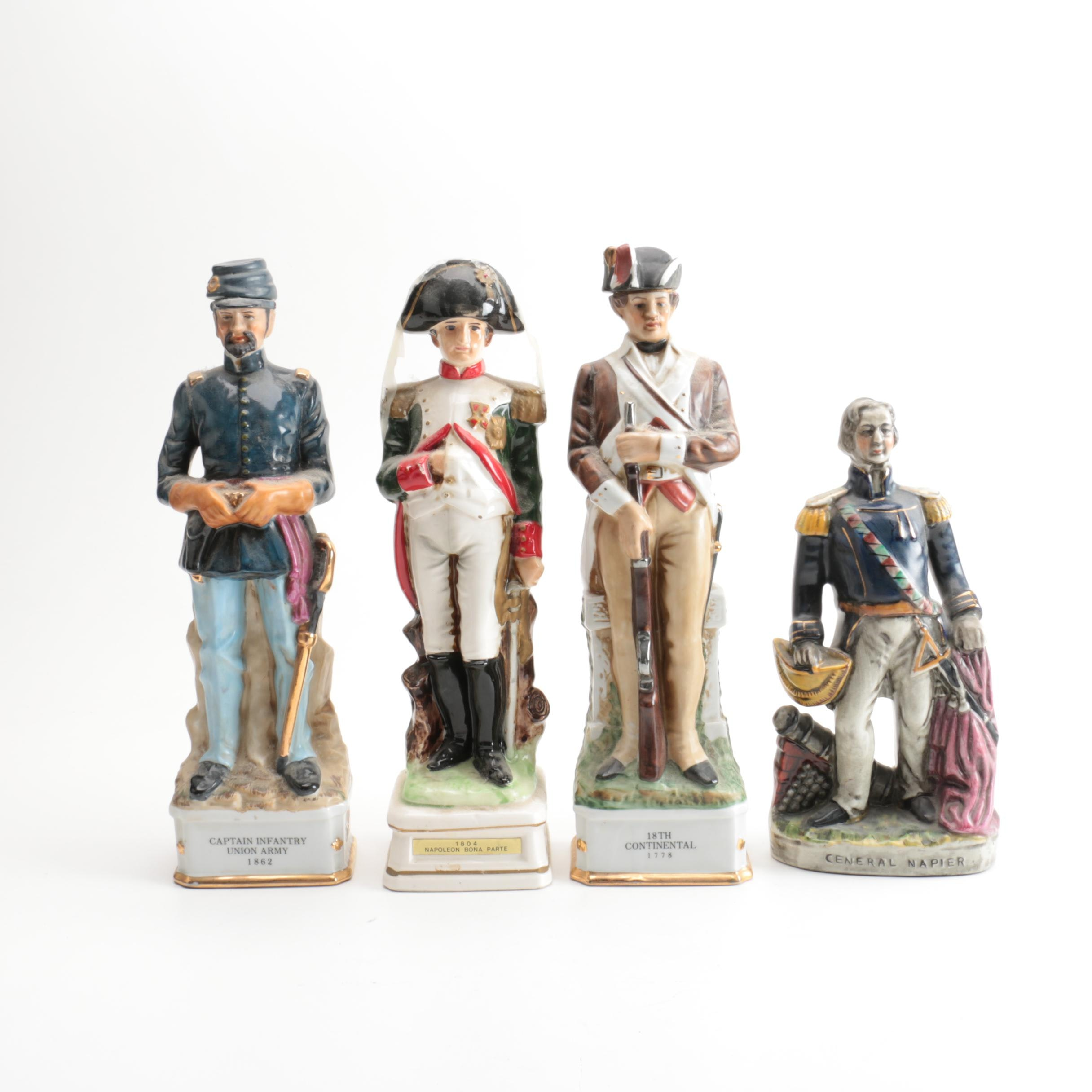 Napoleon Music Box with General Napier and Two Soldier Bottles