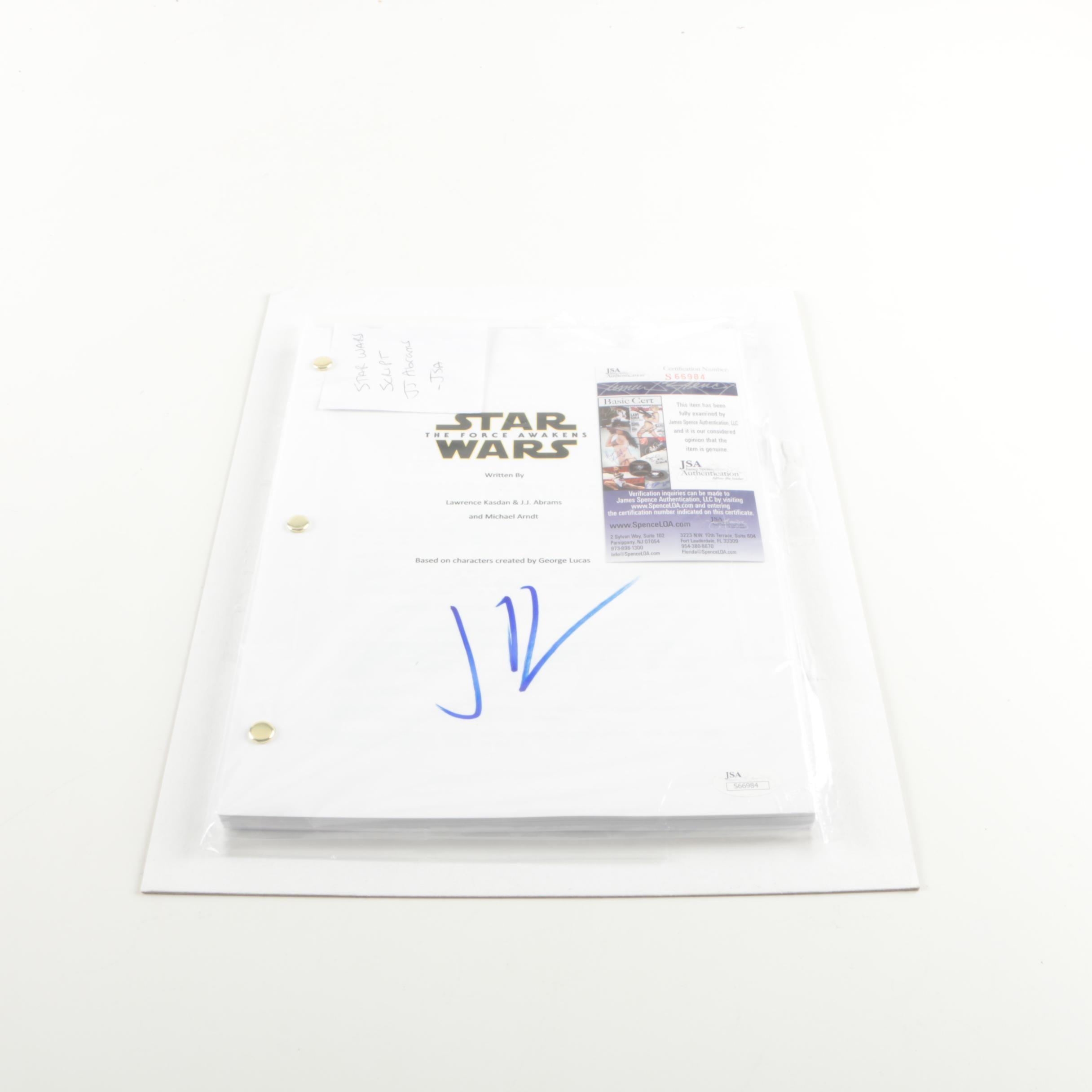 "J.J. Abrams Autographed ""Star Wars: The Force Awakens"" Script - JSA COA"