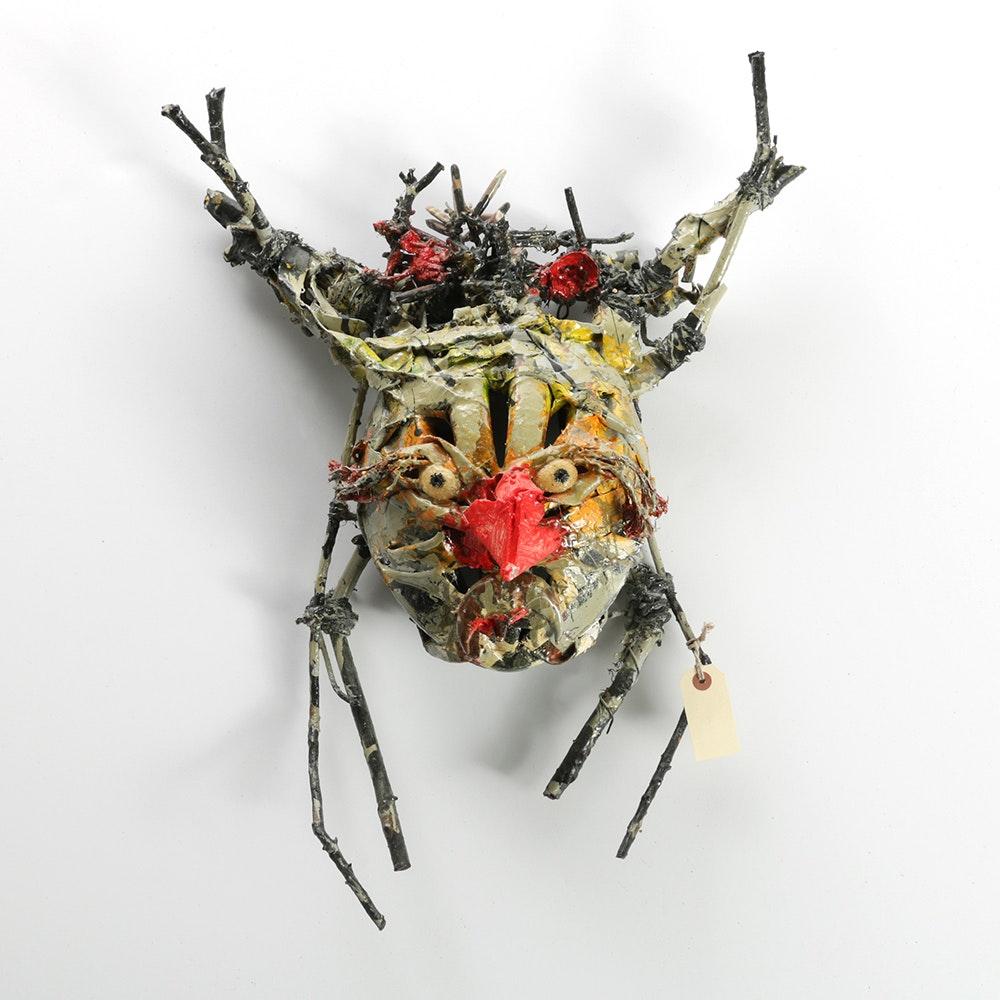 "Frank Kowing Mixed Media Sculpture ""Walt III"""