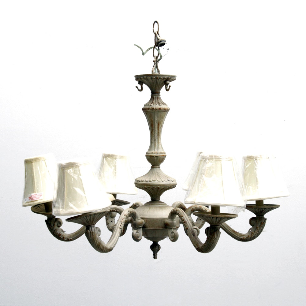 Six Arm Light Chandelier with Shades