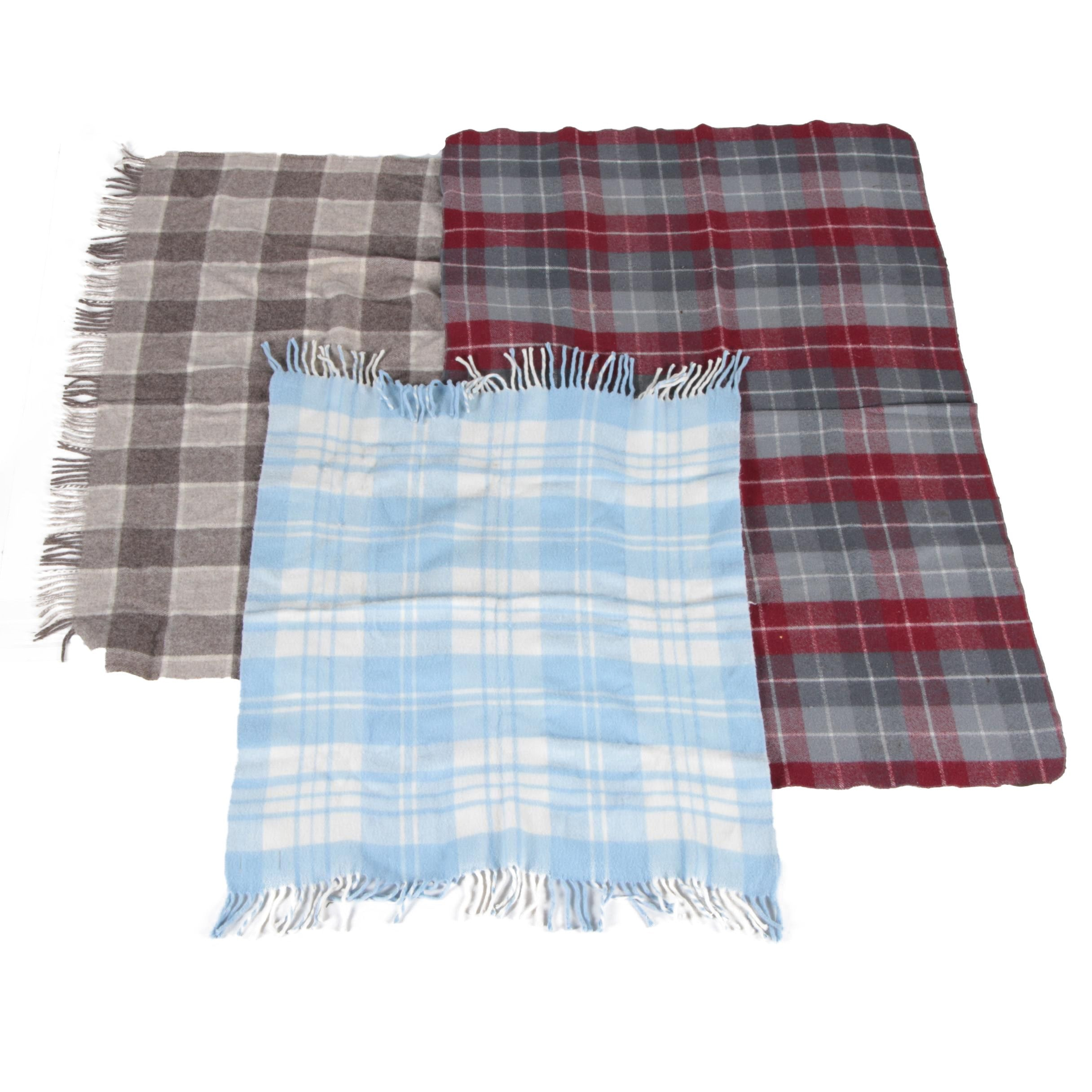 Vintage Glencairn and Carldyke Wool Blankets and Plaid Throw