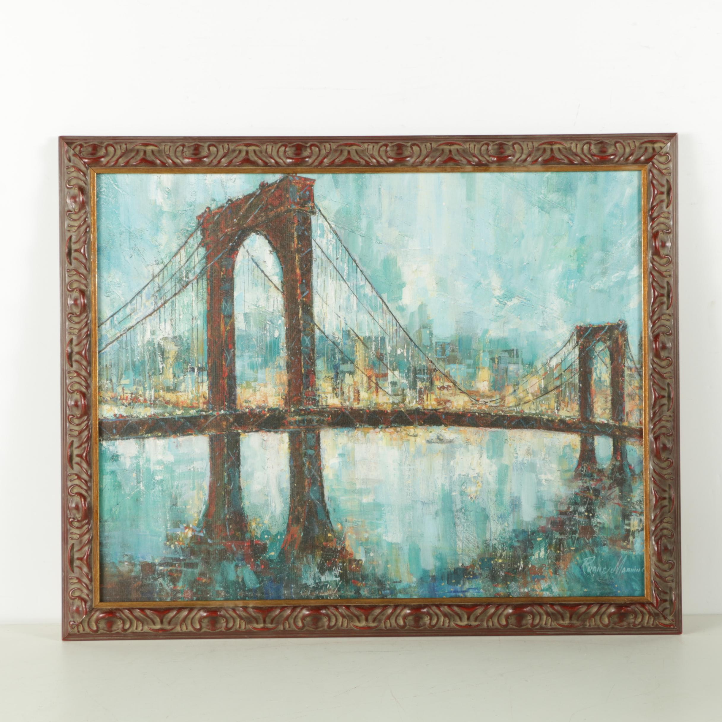 """Reproduction Oil After Ruane Manning's """"Manhattan Memories"""""""