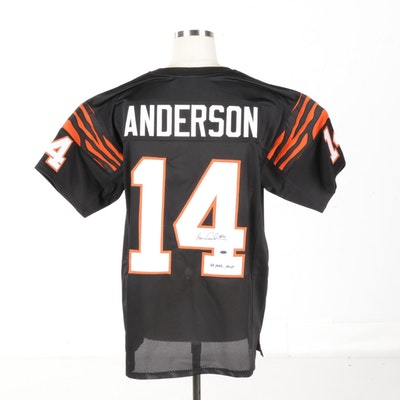 c777cdc7bf3 Ken Anderson Autographed Bengals Jersey - Leaf COA