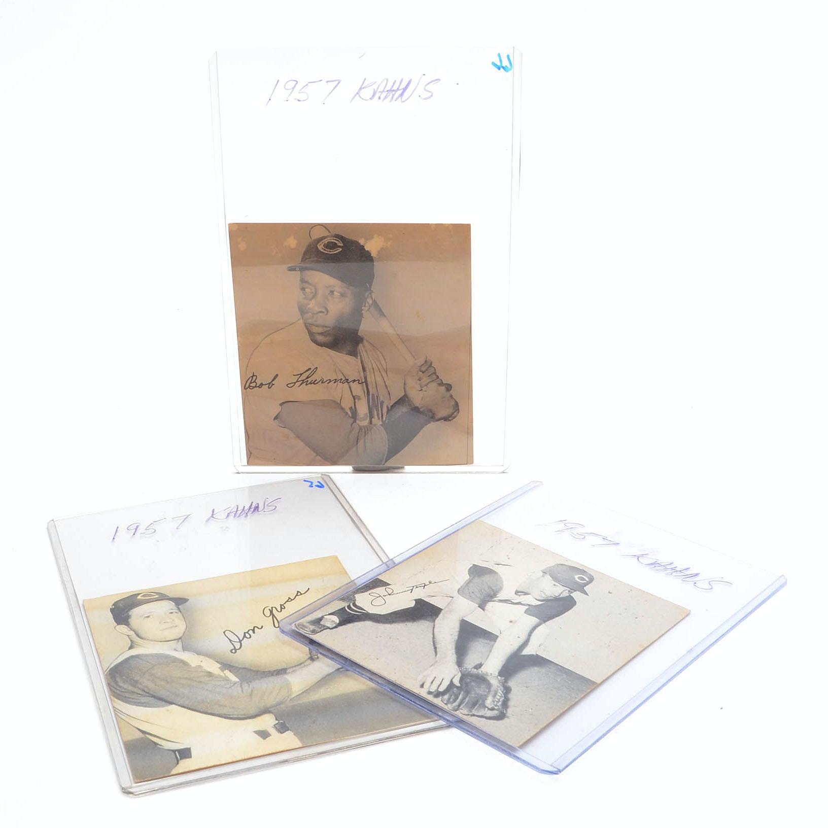 1957 Temple, Thurman, and Gross 1957 Kahn's Reds Cards