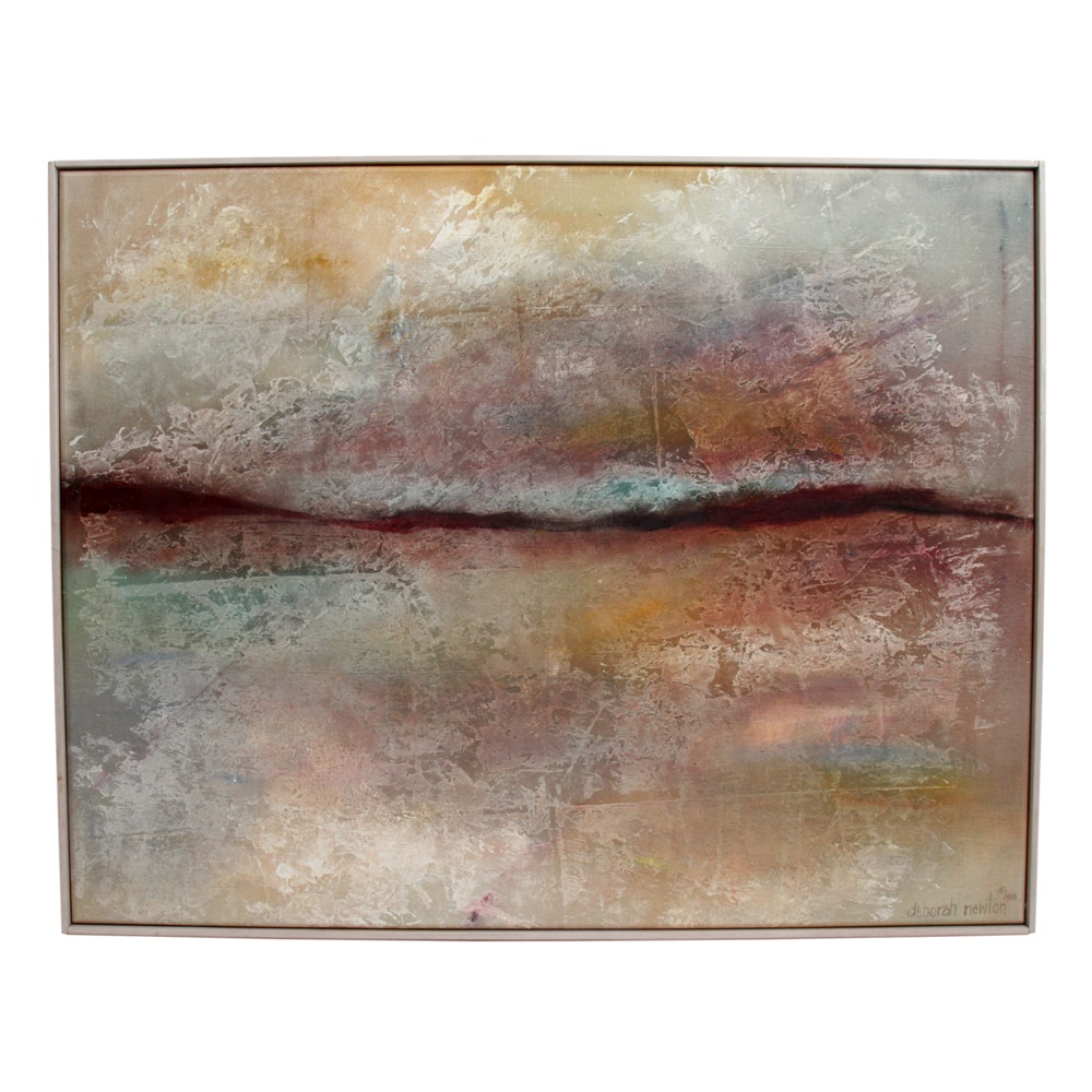 "Deborah Newton Acrylic Painting on Canvas ""Morning Jubilee"""