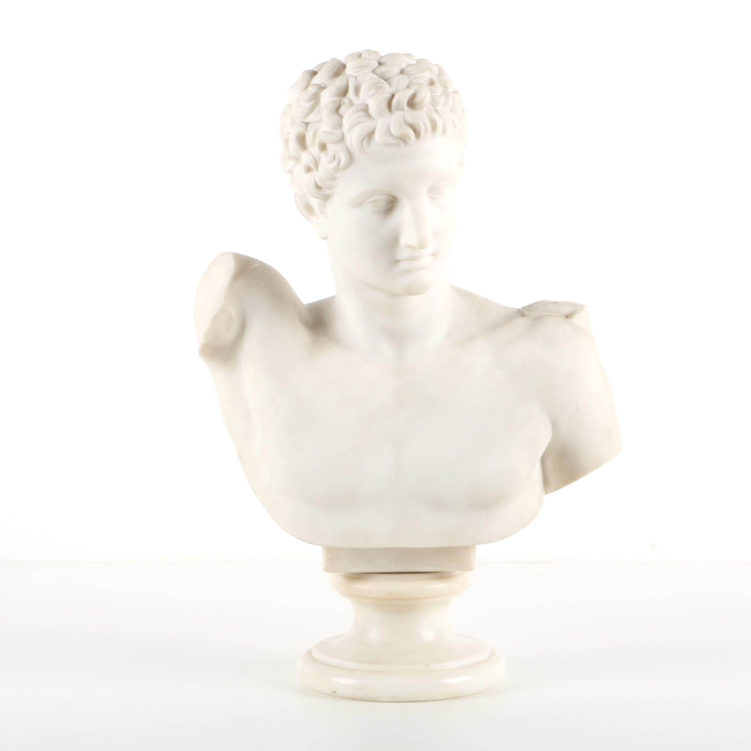 Reproduction Marble Bust After Hermes and the Infant Dionysus