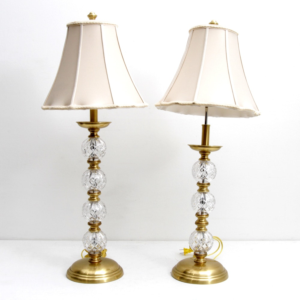 Waterford Crystal Orb Table Lamps
