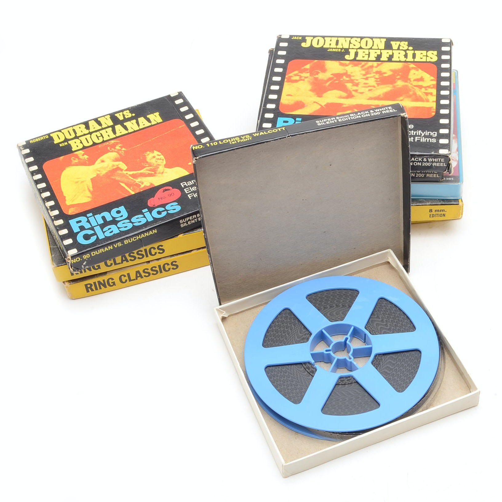 Nine 8mm Boxing Films  Includes Ali and Marciano