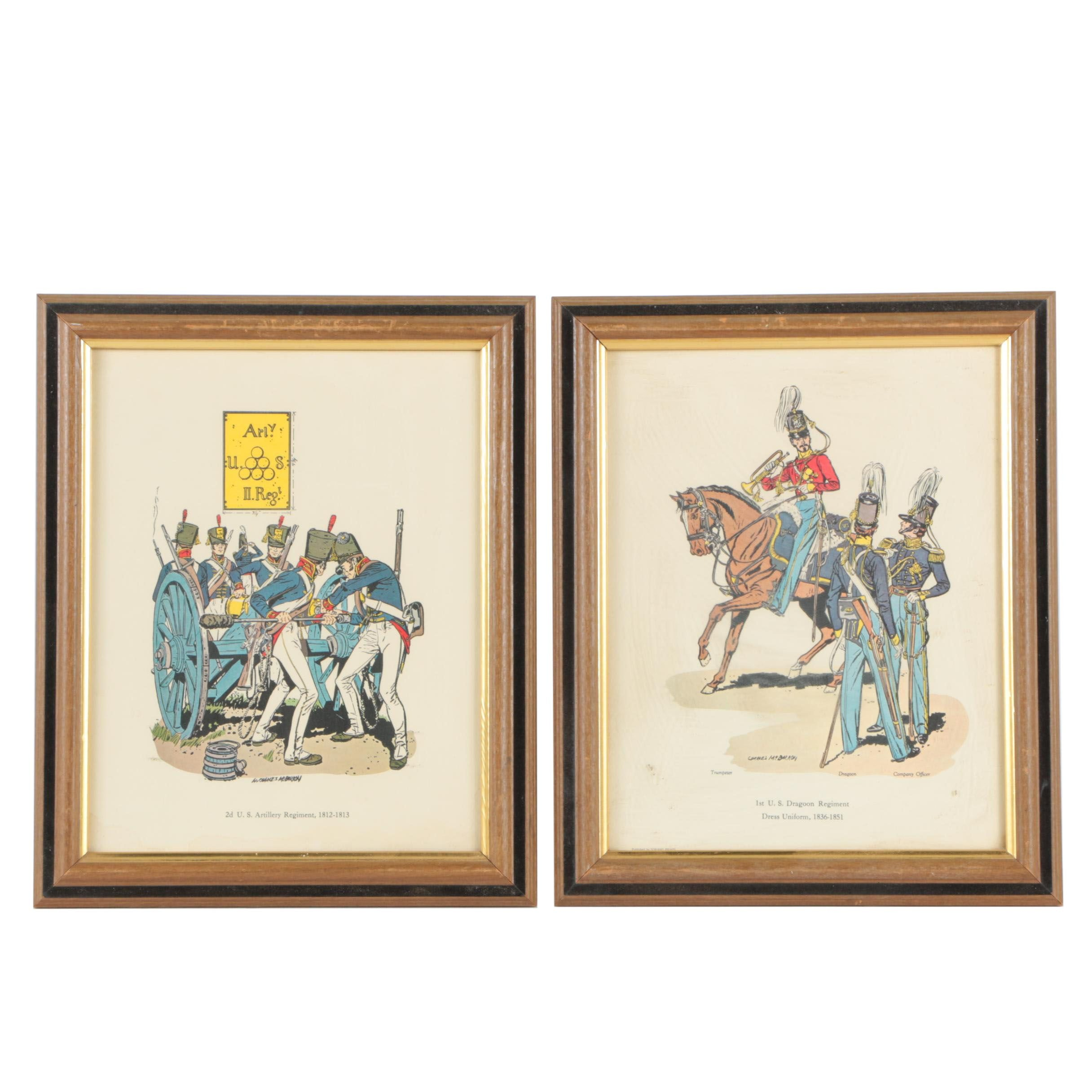 Pair of Offset Lithographs After Charles McBarron